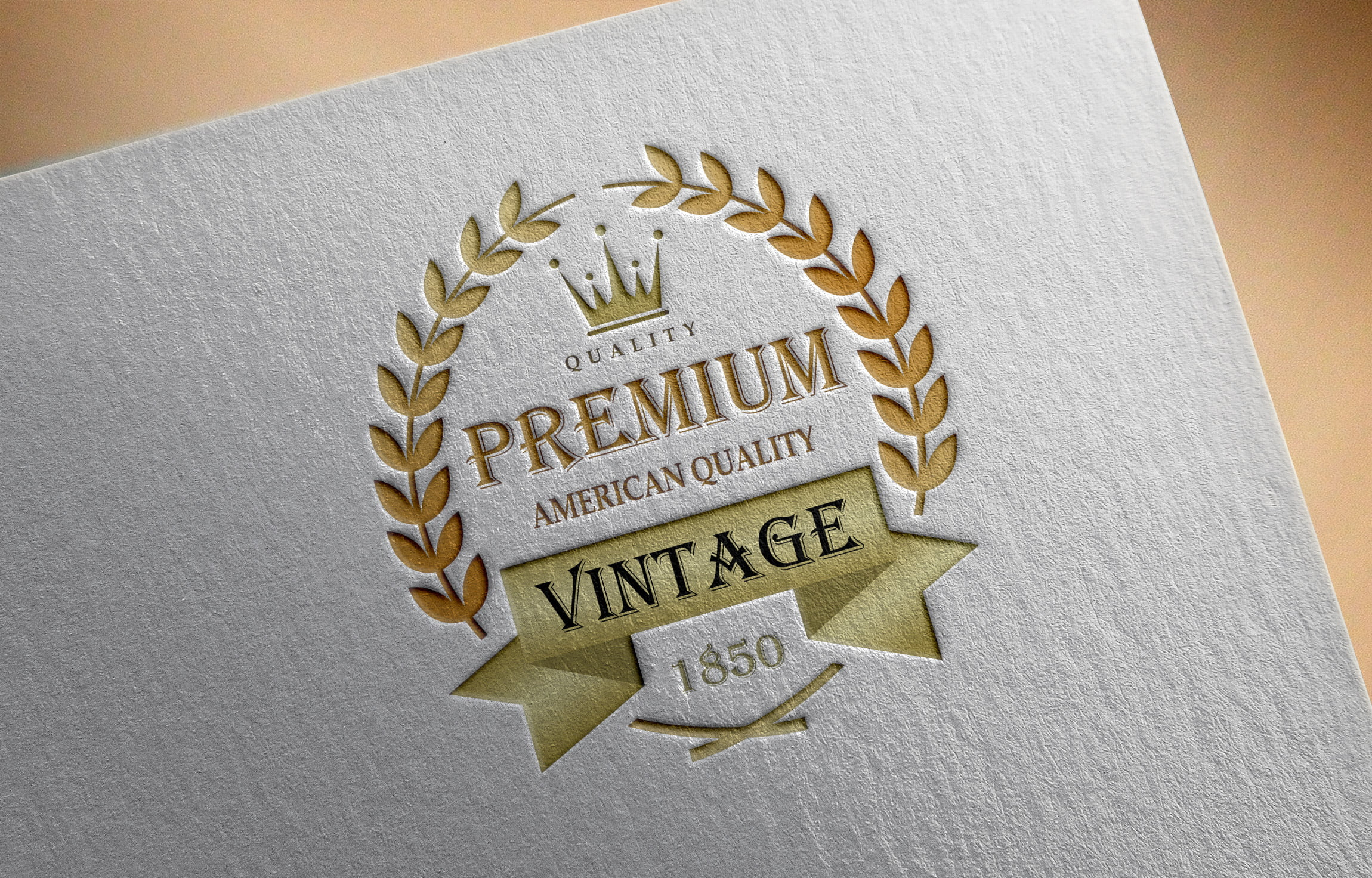 Vintage Logo Design On paper mockup