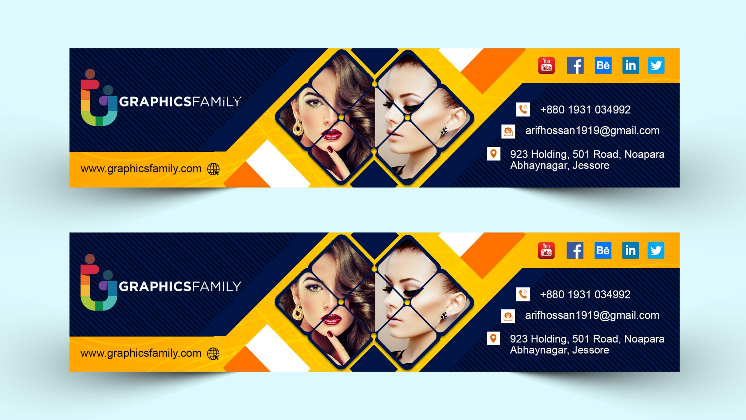 YouTube channel art design for beauty tips youtube channel