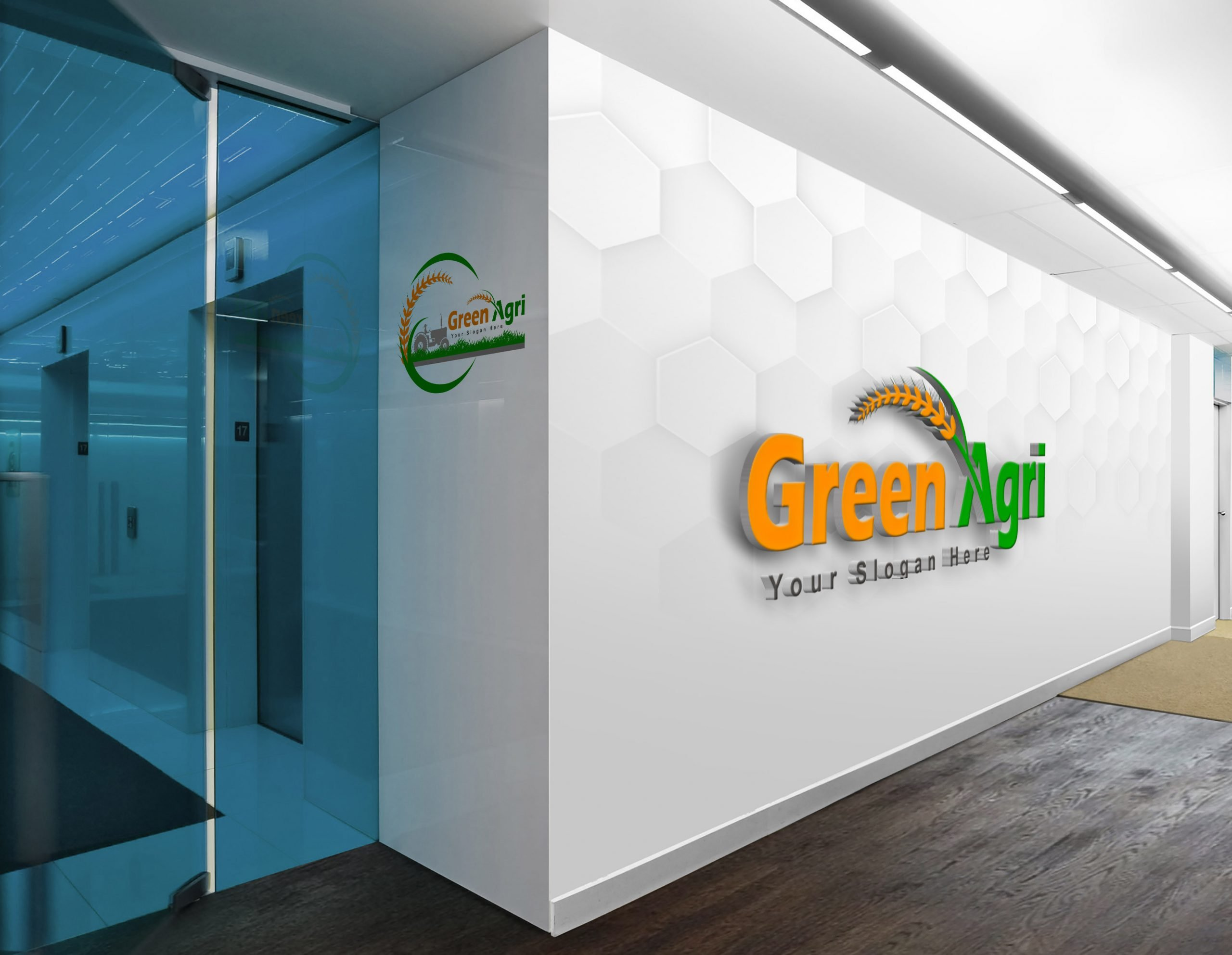 agriculture logo design on wall