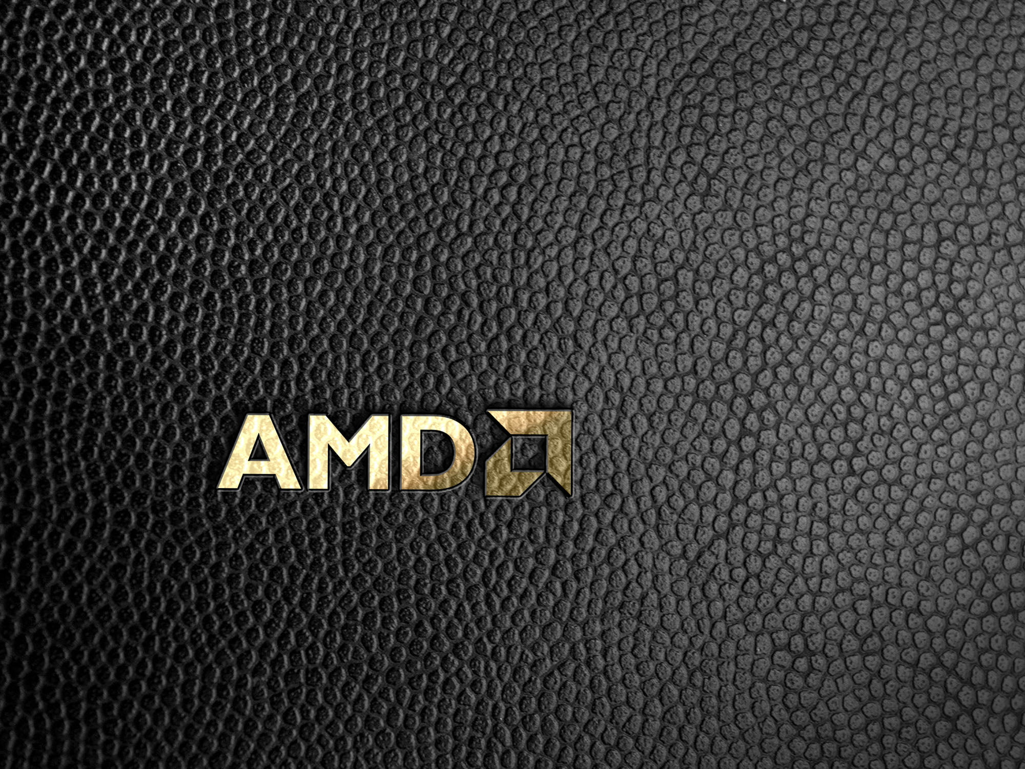 amd logo on black leather