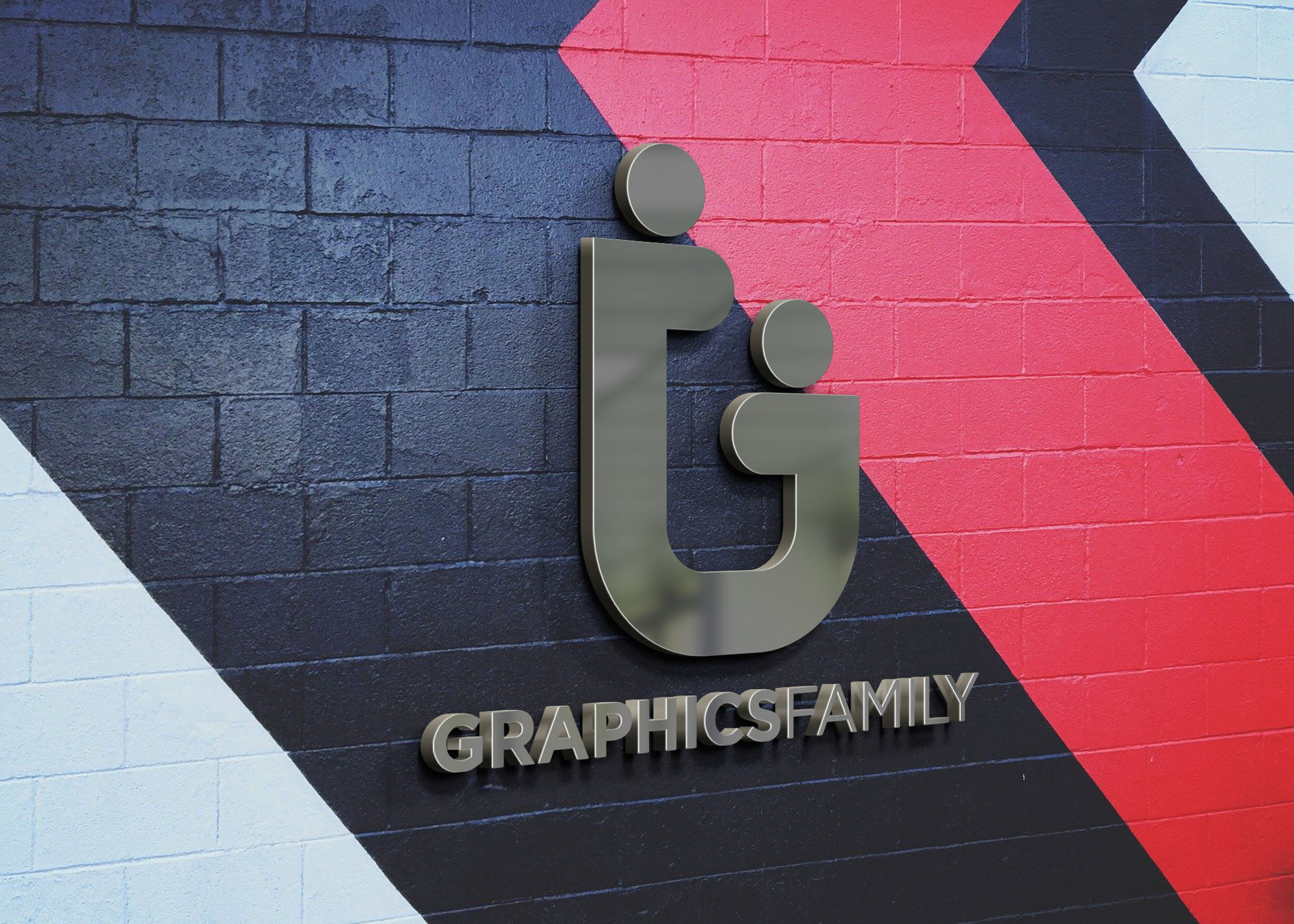 graphicsfamily on 3d wall