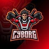 Cyborg Mascot Logo