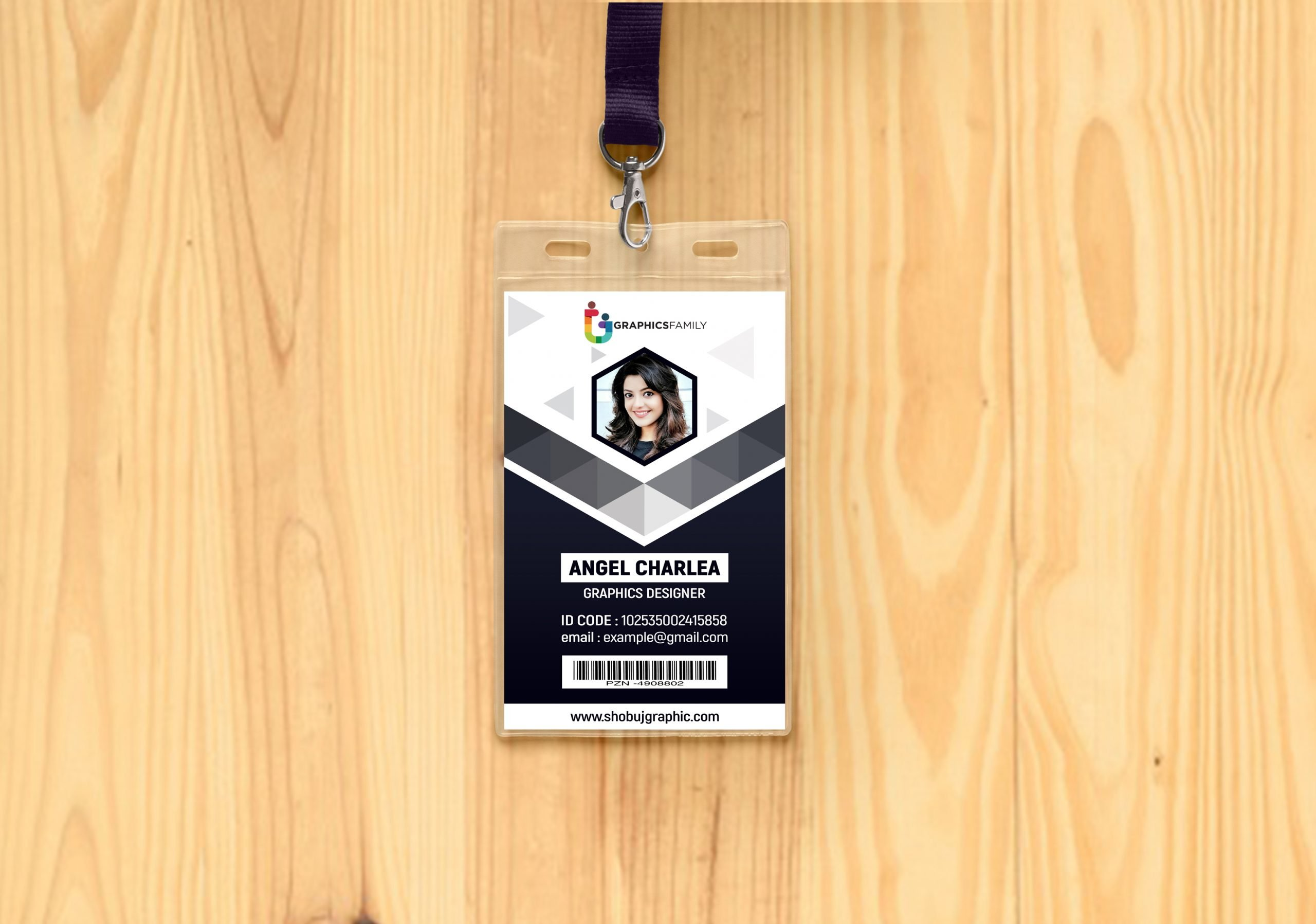 Abstract Id Card Design Template
