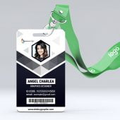 Modern Abstract Id Card Design Free Template