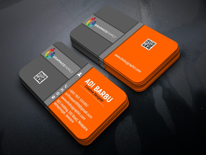 Business-card-design-in-photoshop-cc-Back-Orange-Gray
