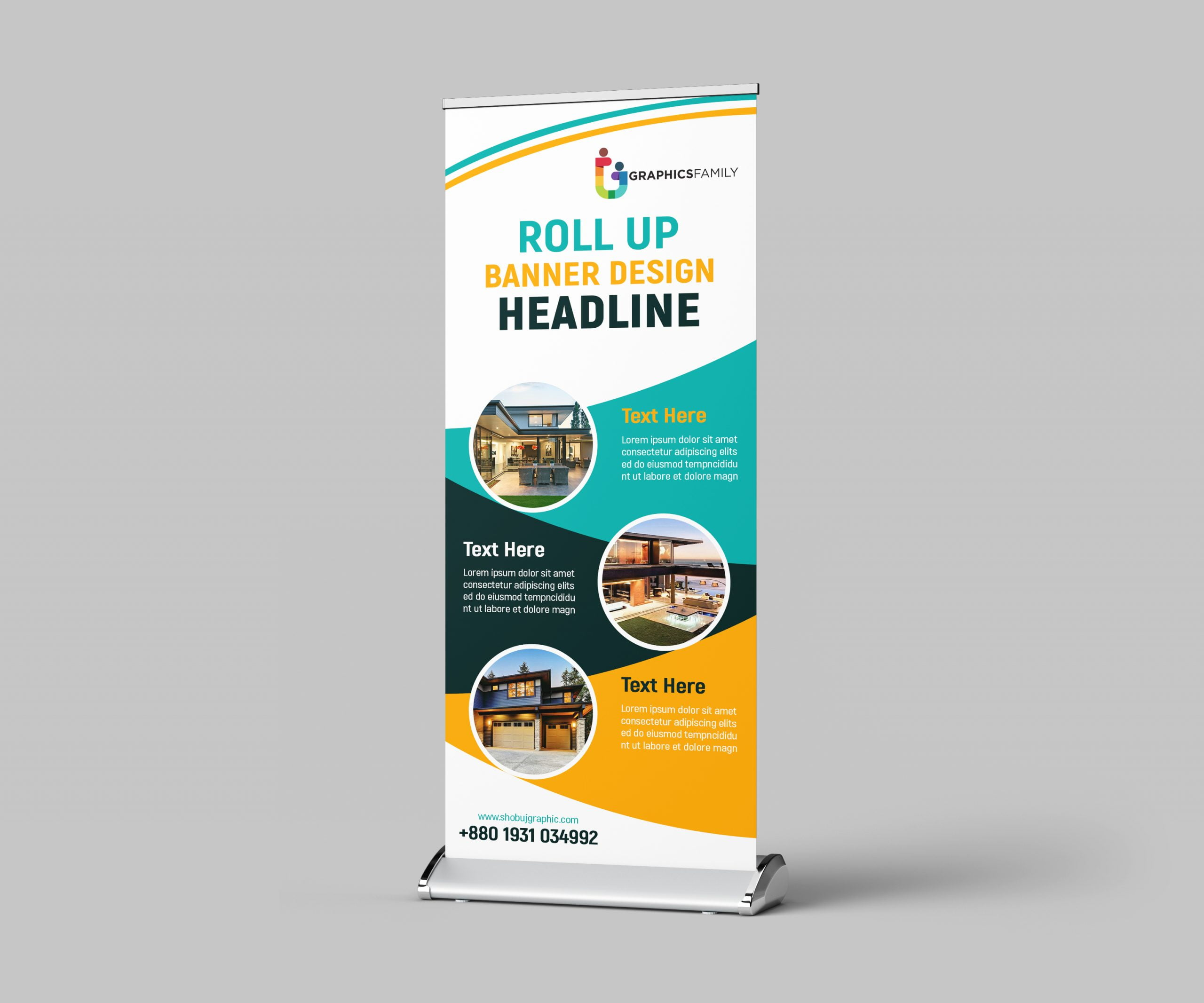 Business roll up design standard banner template free