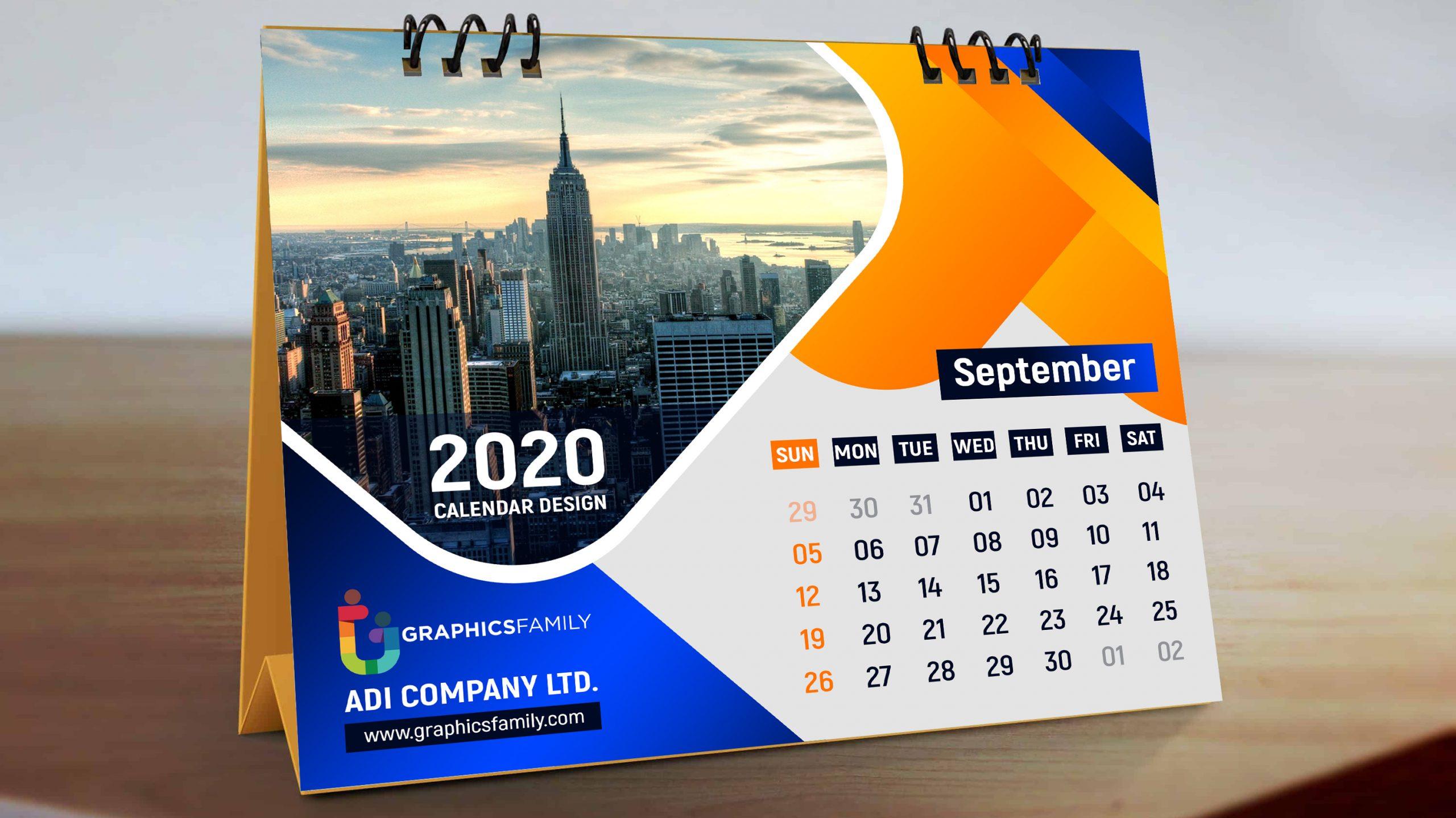Calendar design in Photoshop