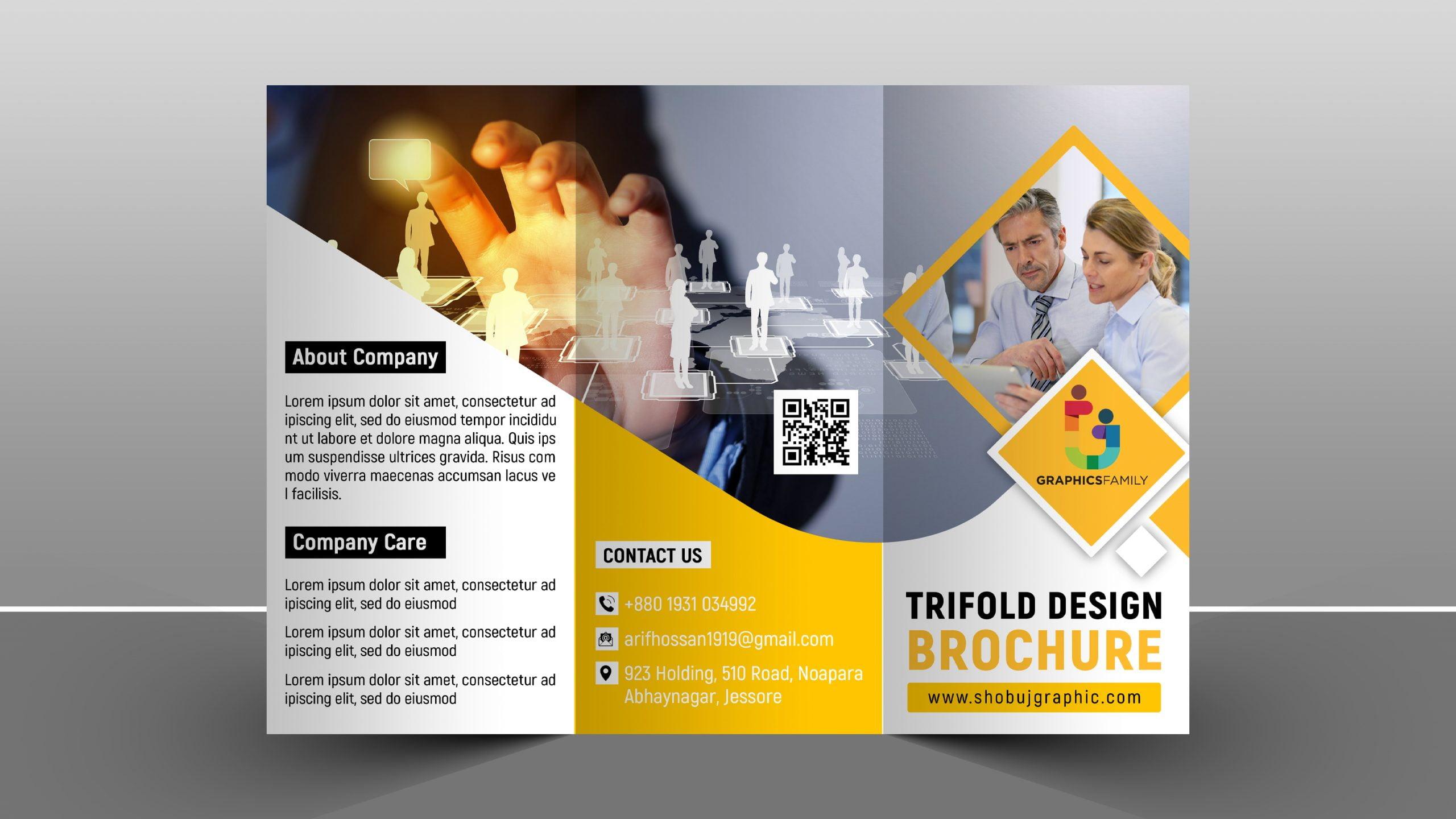 Corporate trifold brochure template design
