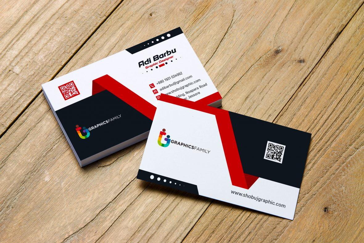 Creative Business Card Design Free Template Download – GraphicsFamily For Creative Business Card Templates Psd