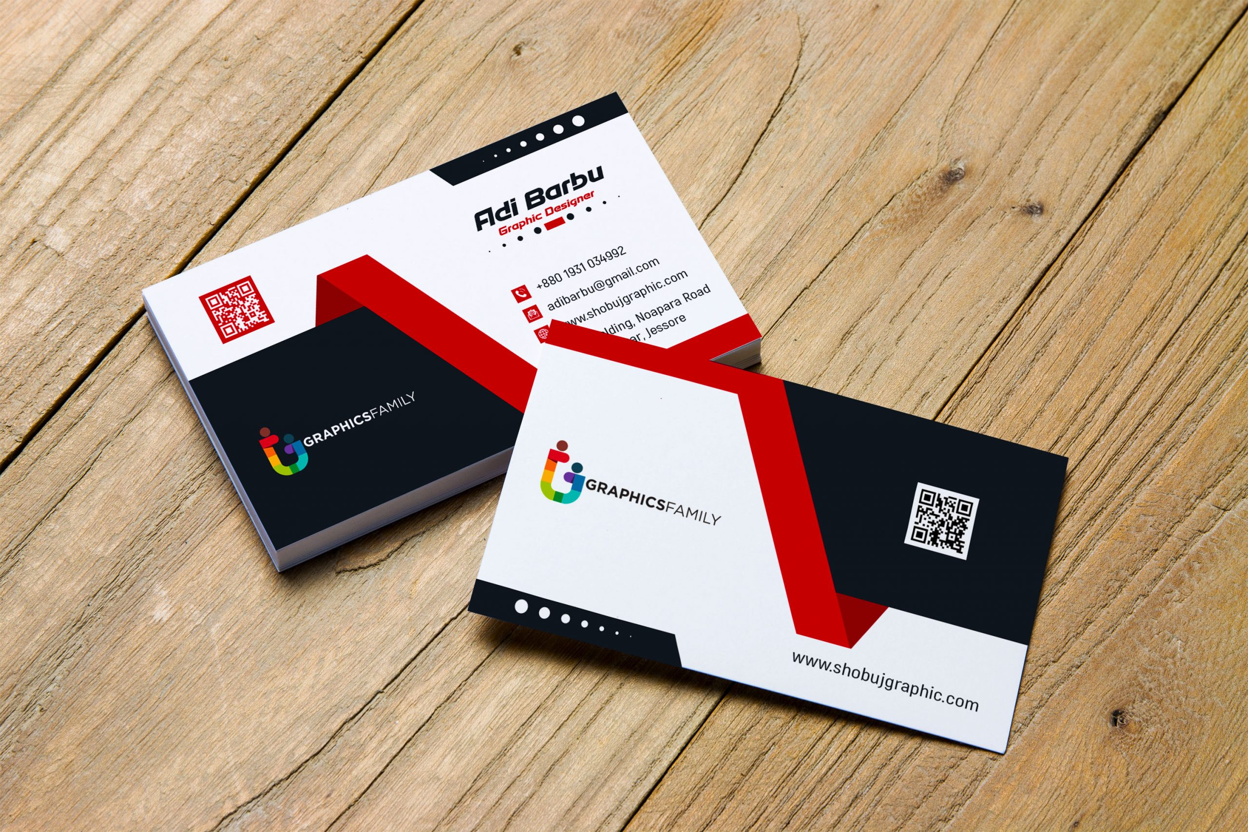Creative Business Card Design Free Template Download – GraphicsFamily With Creative Business Card Templates Psd