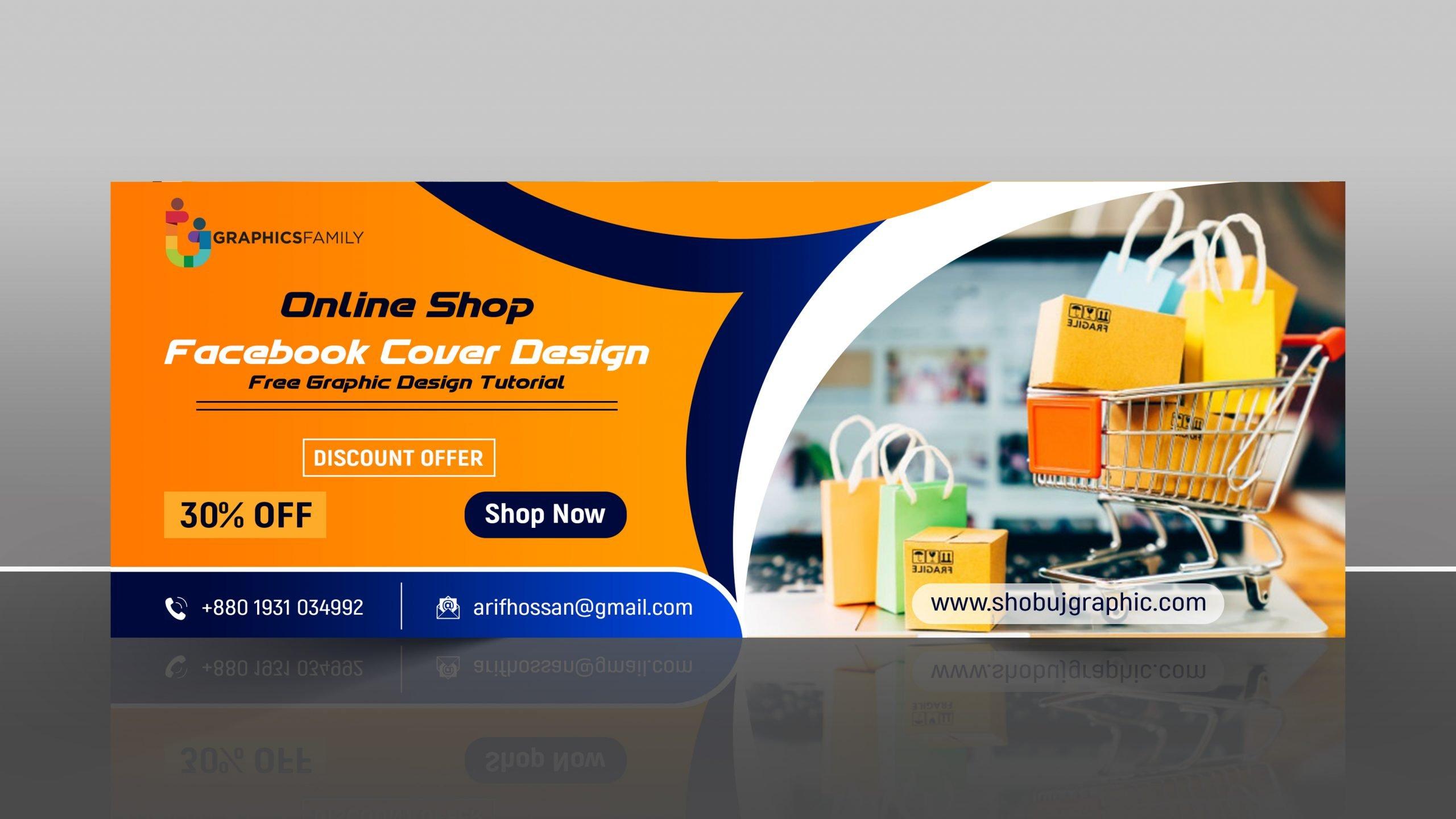 Facebook cover Design for online shopping Market