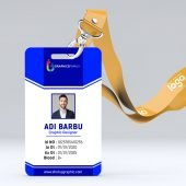 Flat office id card design template Free psd