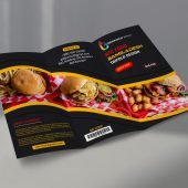 Food Menu Trifold Brochure Design Free Template