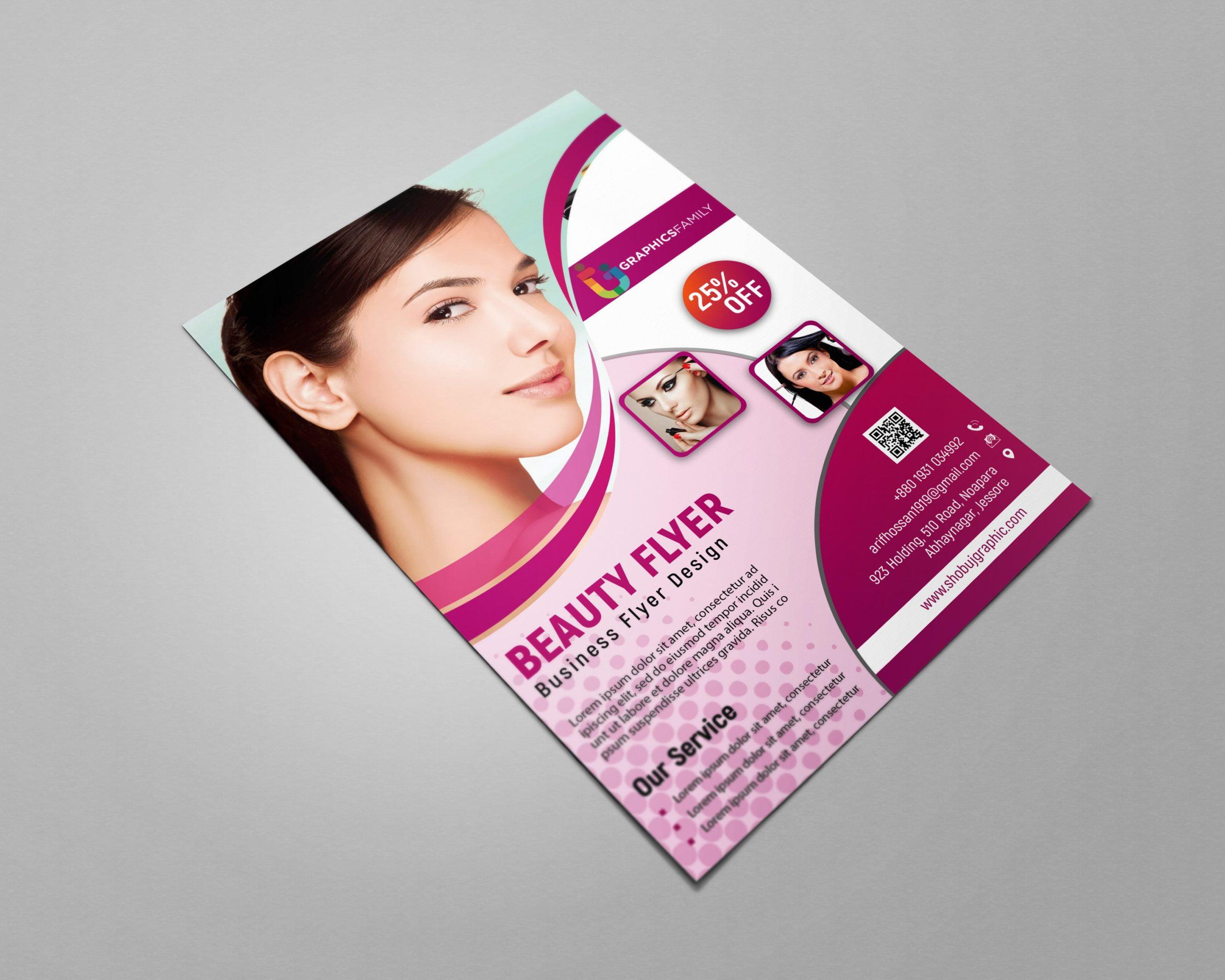 Free Beauty Flyer Photoshop Template presentation