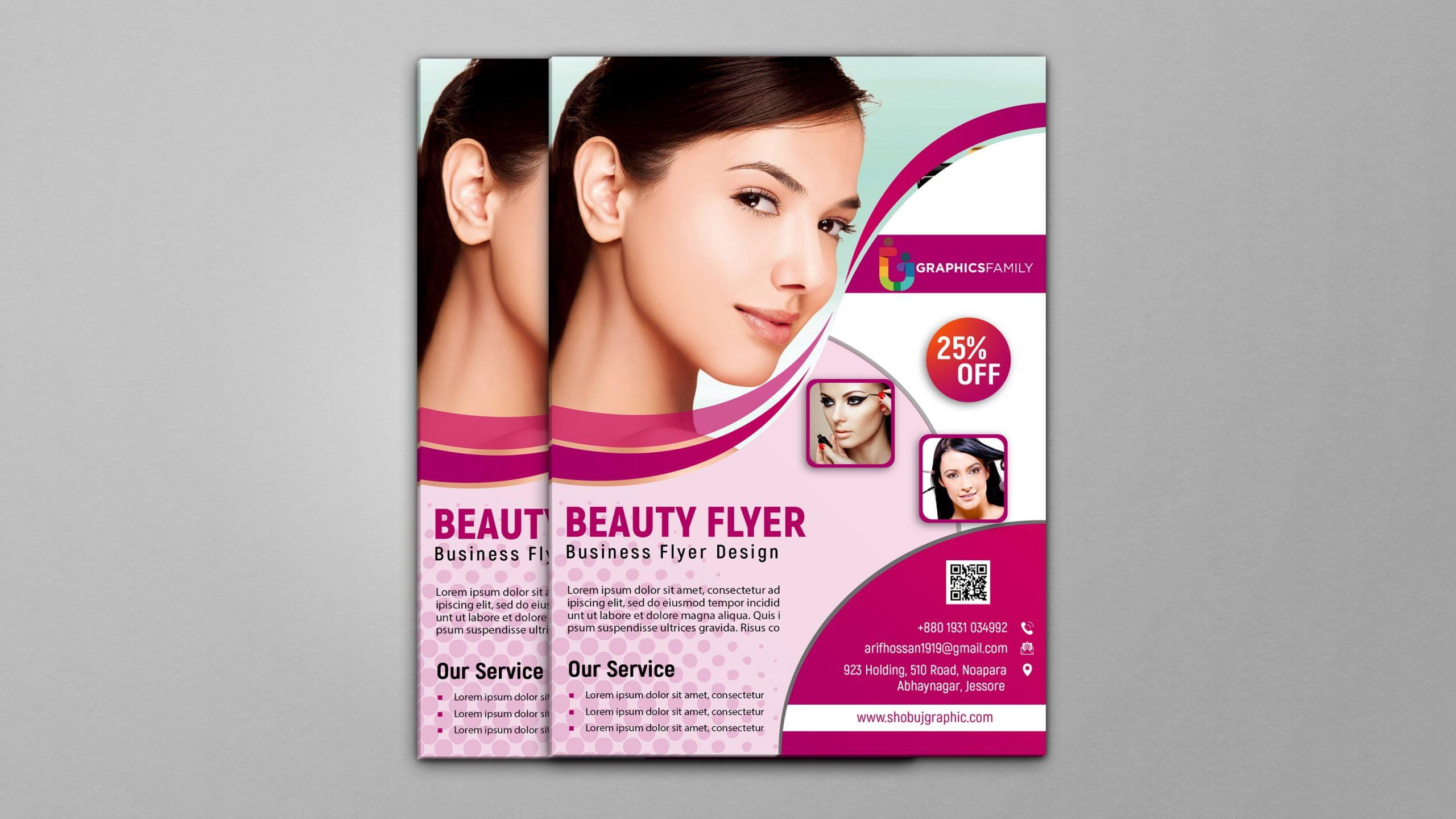 Free Beauty Flyer Photoshop Template psd