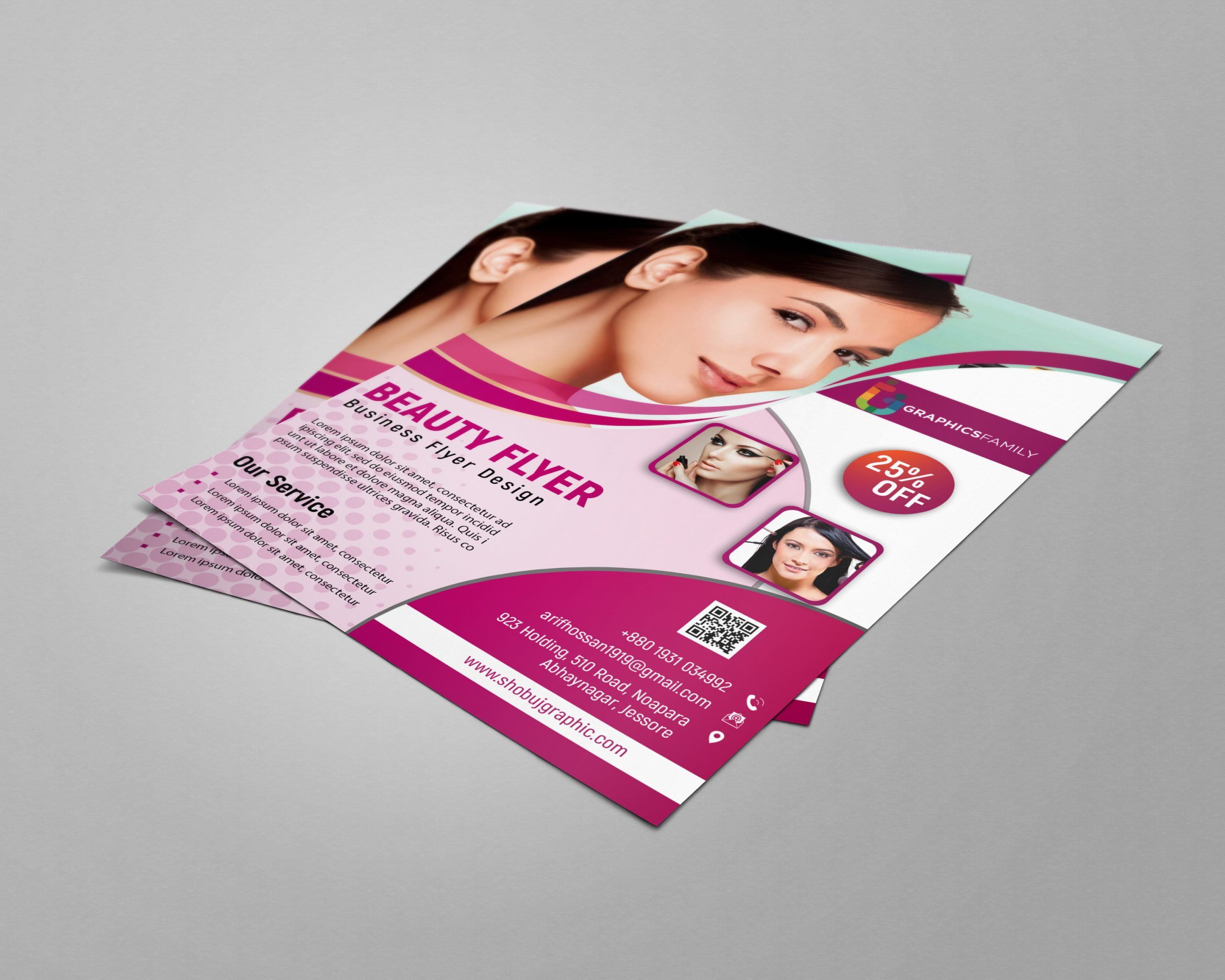 Free Beauty Flyer Photoshop Template