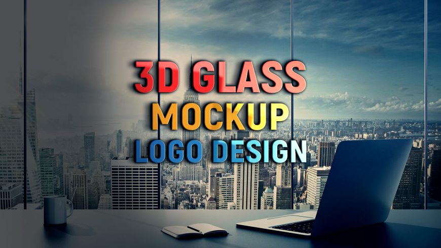 Free-PSD-3D-Wall-Glass-Logo-Mockup-Design