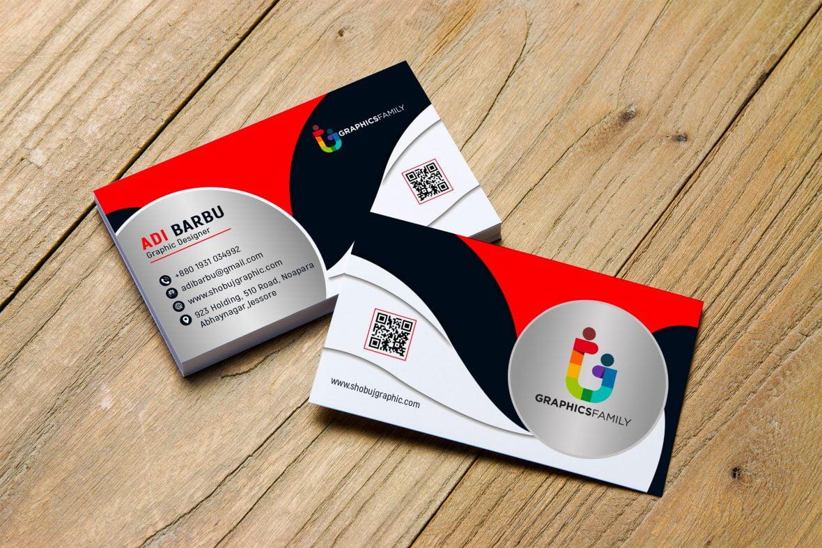 Free PSD Creative Business Card Design – GraphicsFamily In Creative Business Card Templates Psd