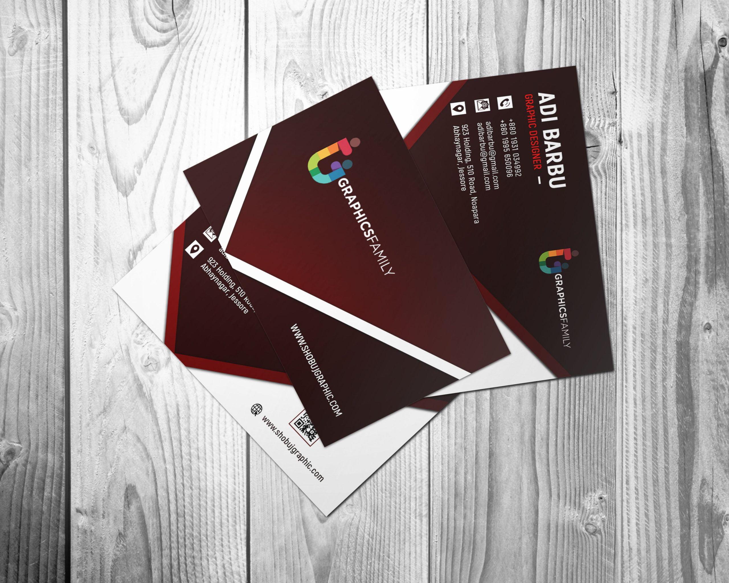 Free Photoshop Graphic Design Business Card Presentation