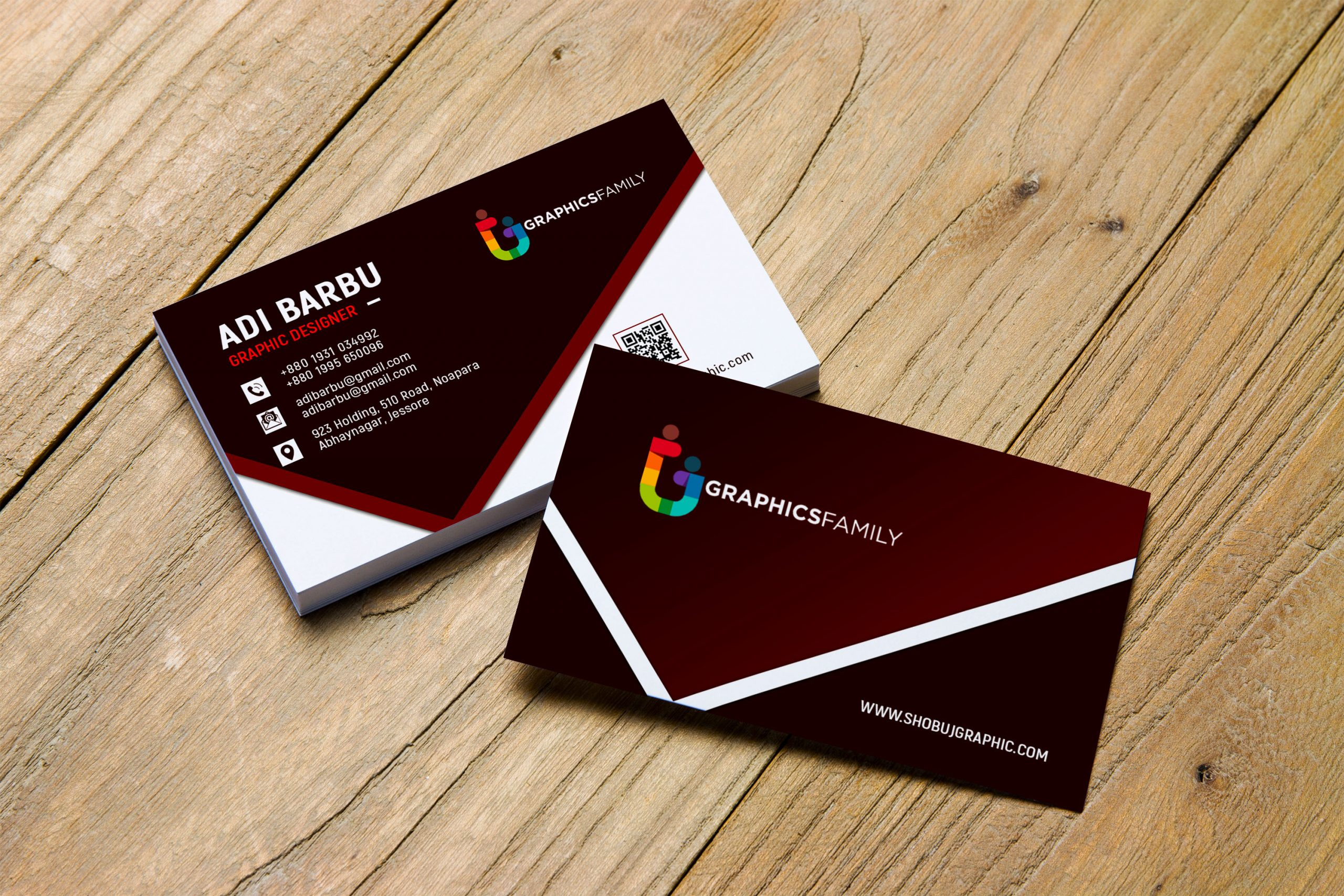 Free Photoshop Graphic Design Business Card Template Download