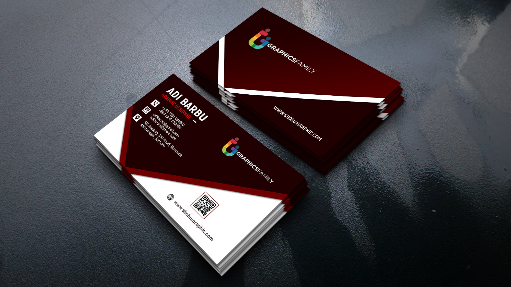 Free Photoshop Graphic Design Business Card Template
