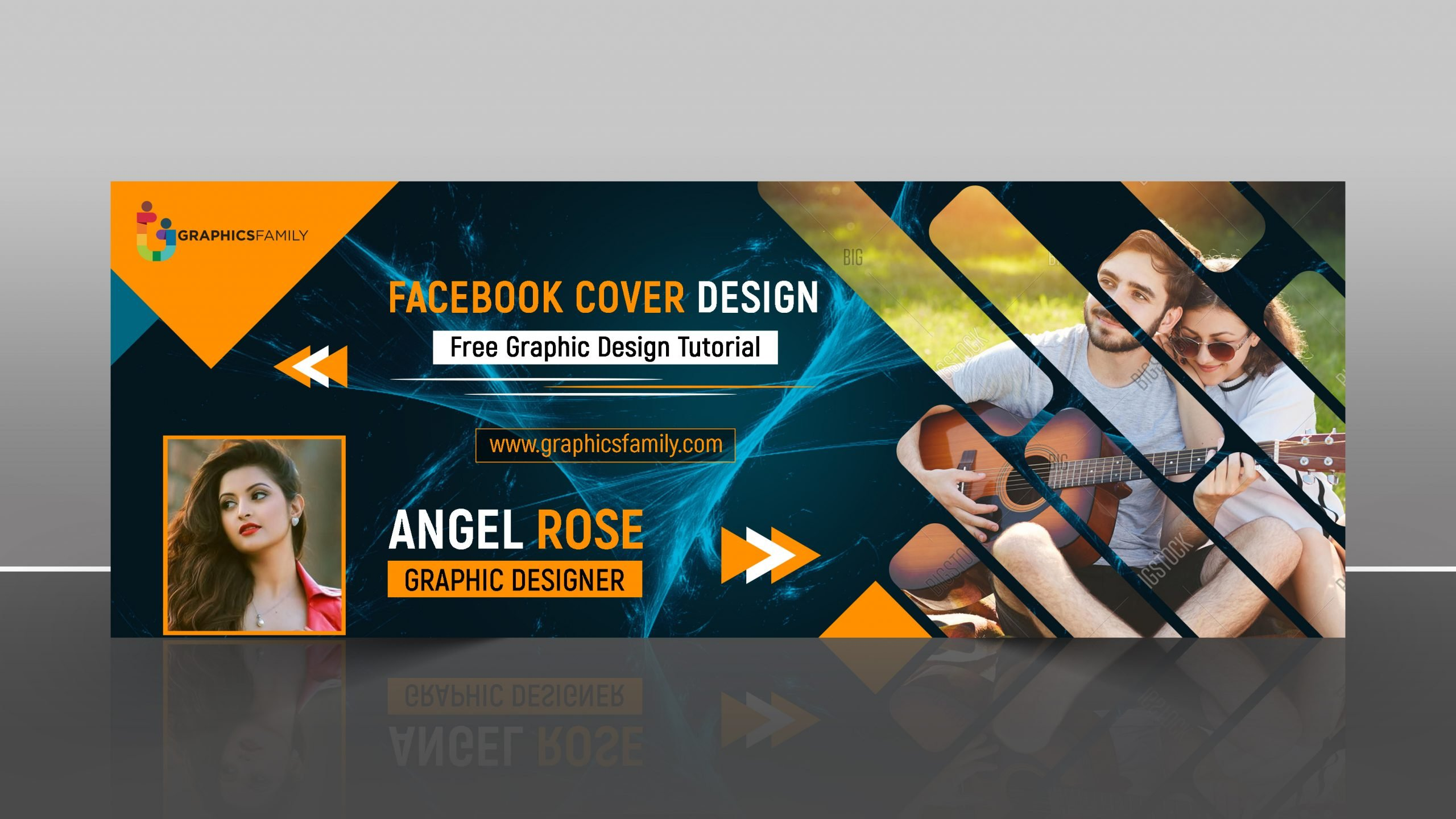 Free Stylish Facebook Cover Design Template