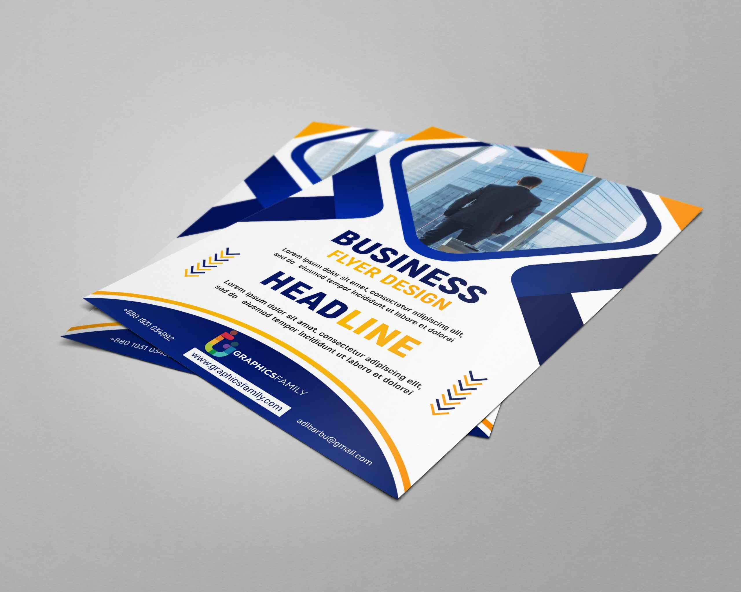 Free business flyer design templates by photoshop