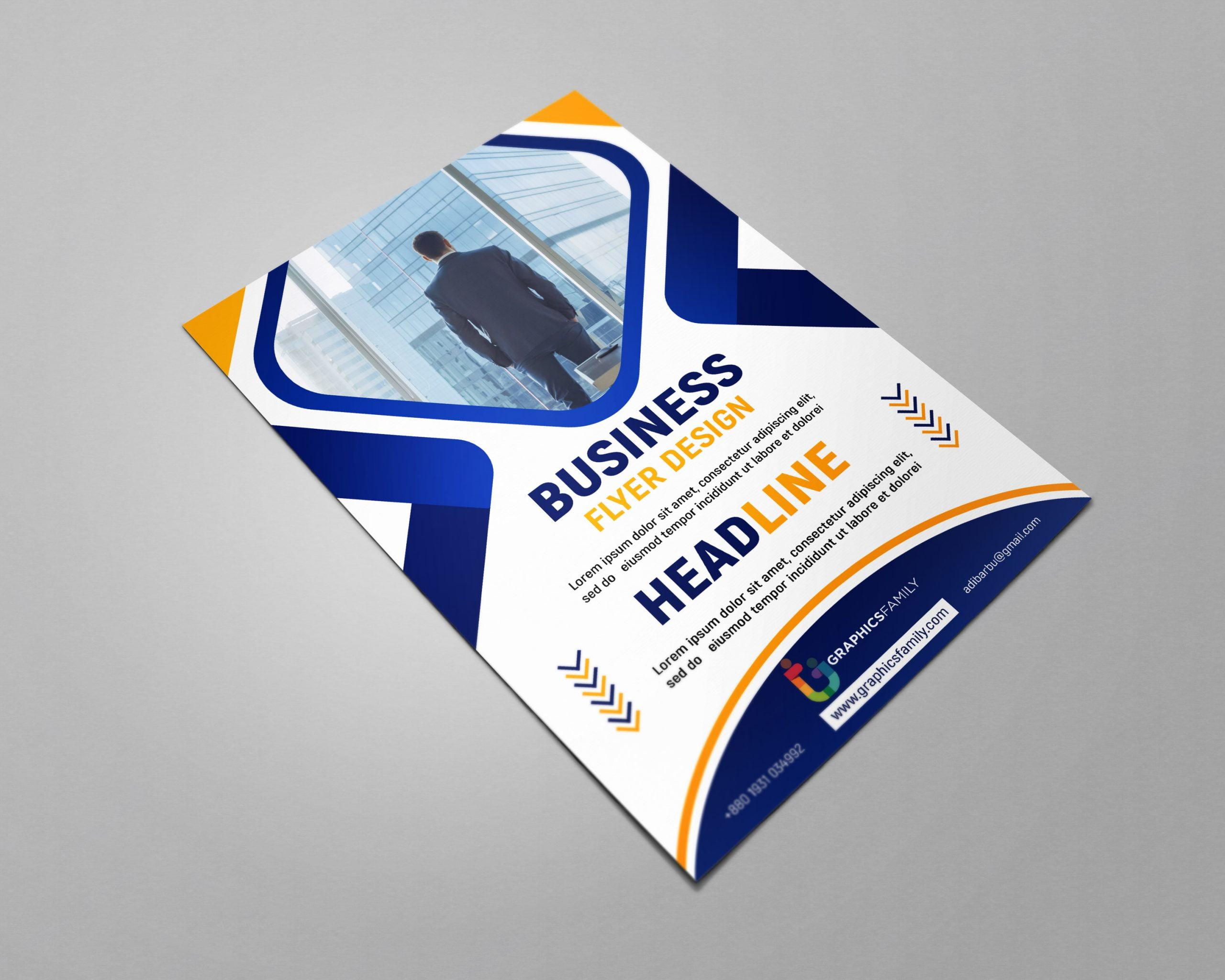 Free business flyer design templates photoshop presentation