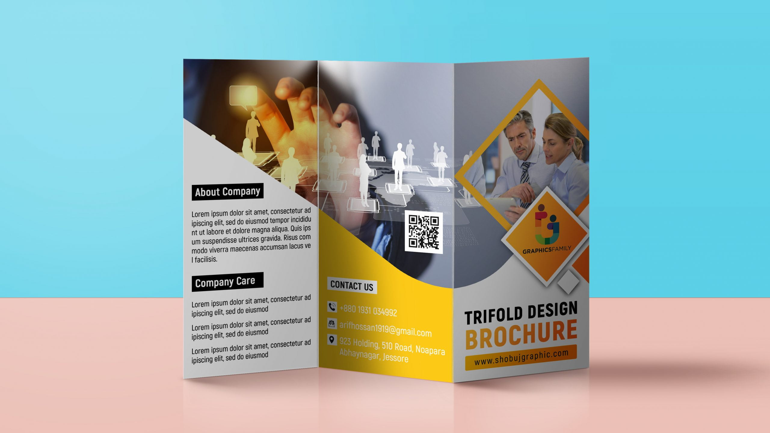Free corporate tri fold brochure template download
