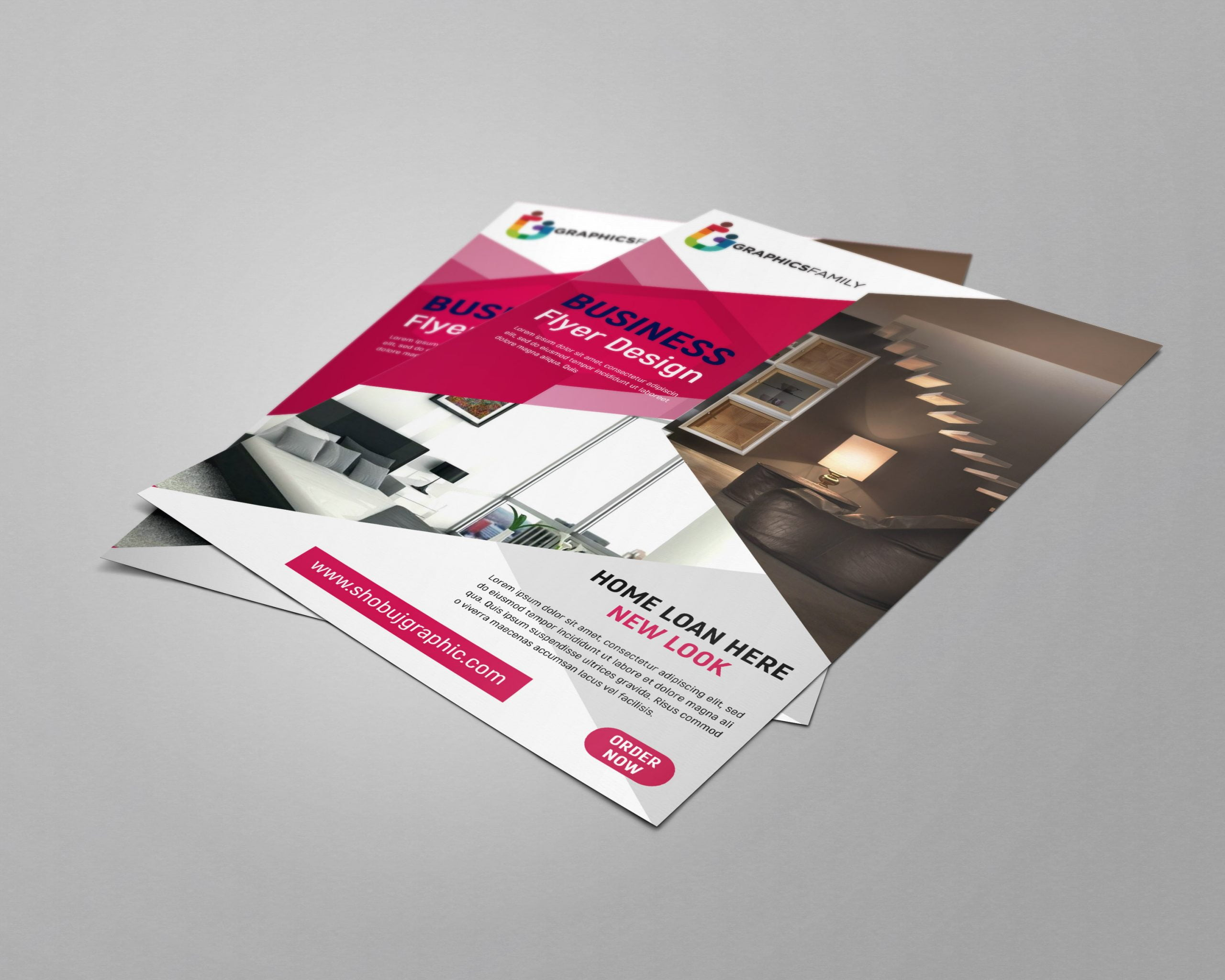 Free flyer design for home loan service