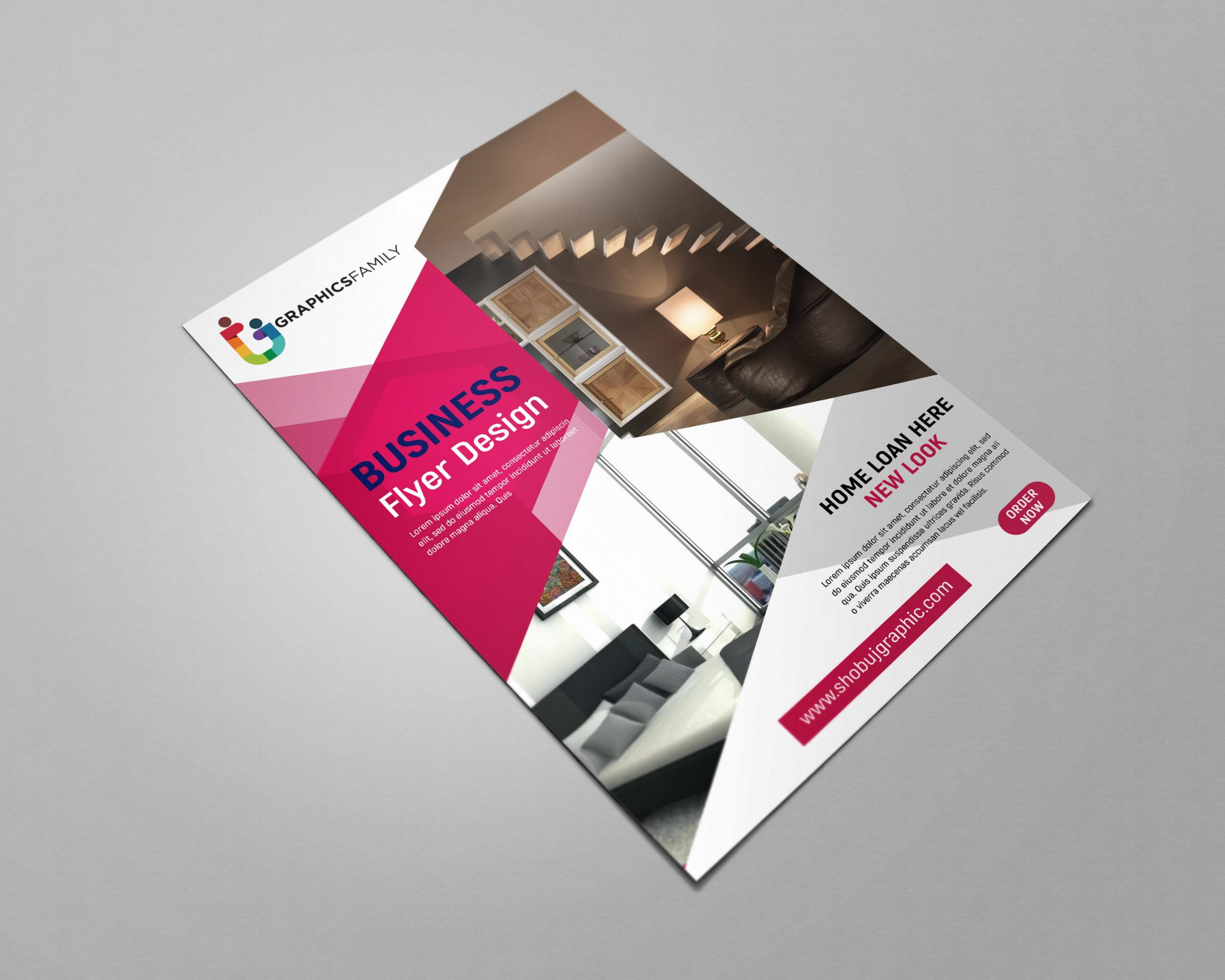 Free flyer design templates for home loan service