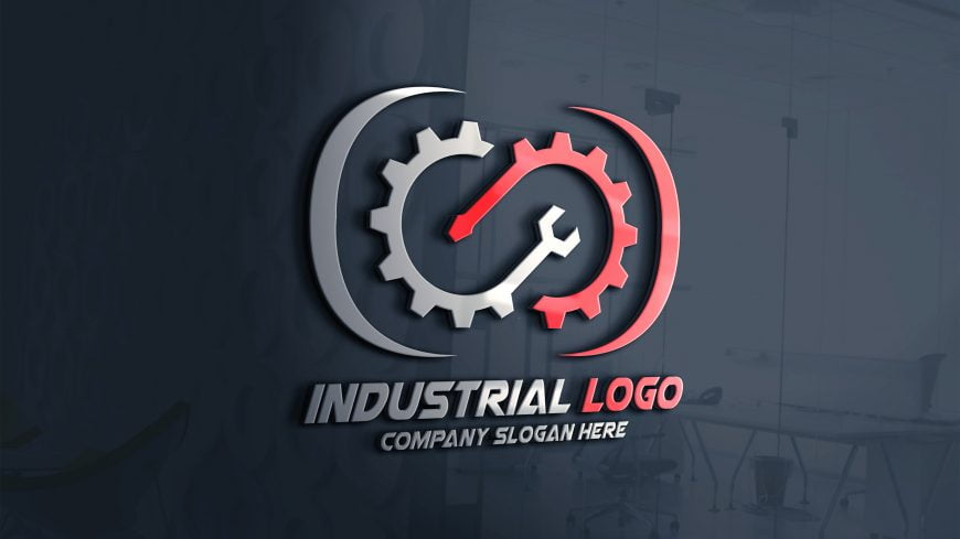 Industrial-Logo-Design-on-glass-window-scaled