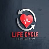 Life Cycle Logo Design Free Template