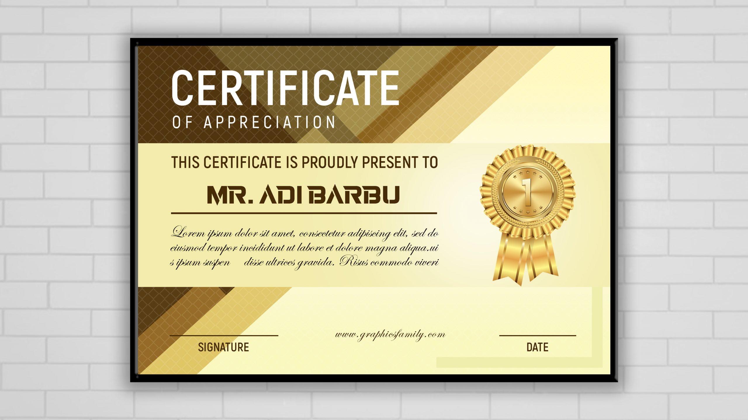 Luxury Certificate Template Design Presentation