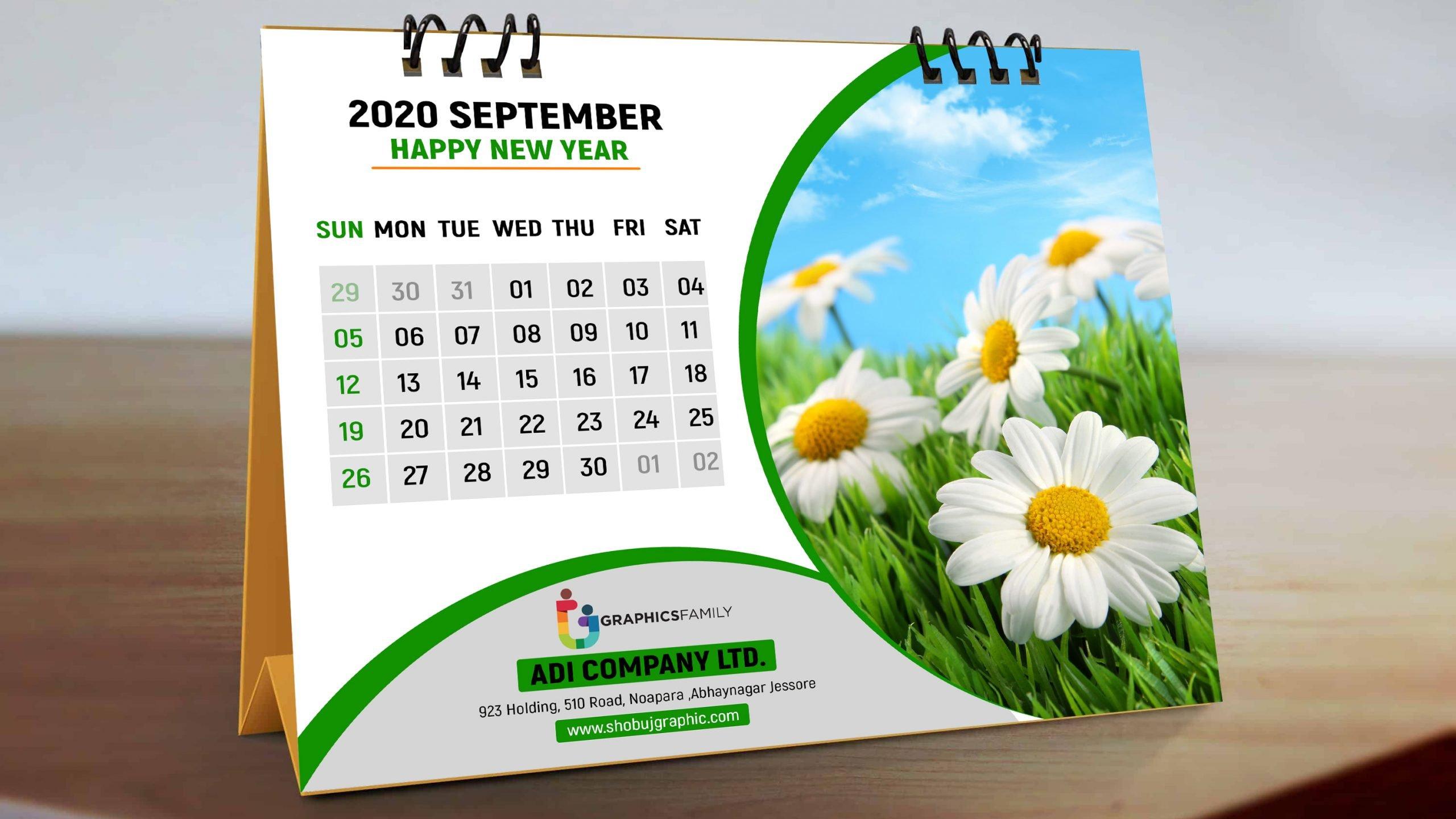 Modern Desk Calendar Free Template