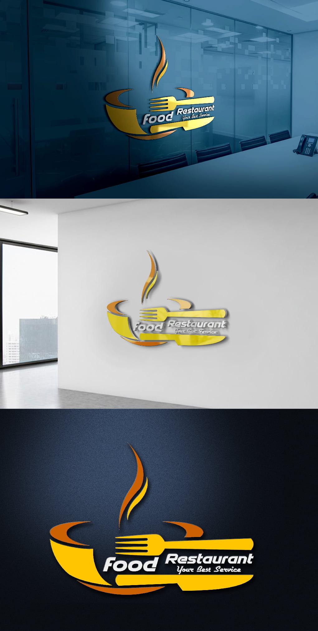 Modern Restaurant Logo Presentation
