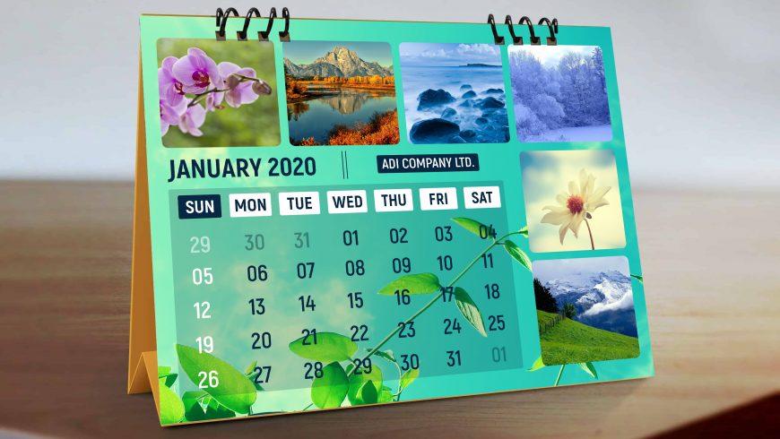 Natural-Desk-Calendar-Design-Presentation-scaled