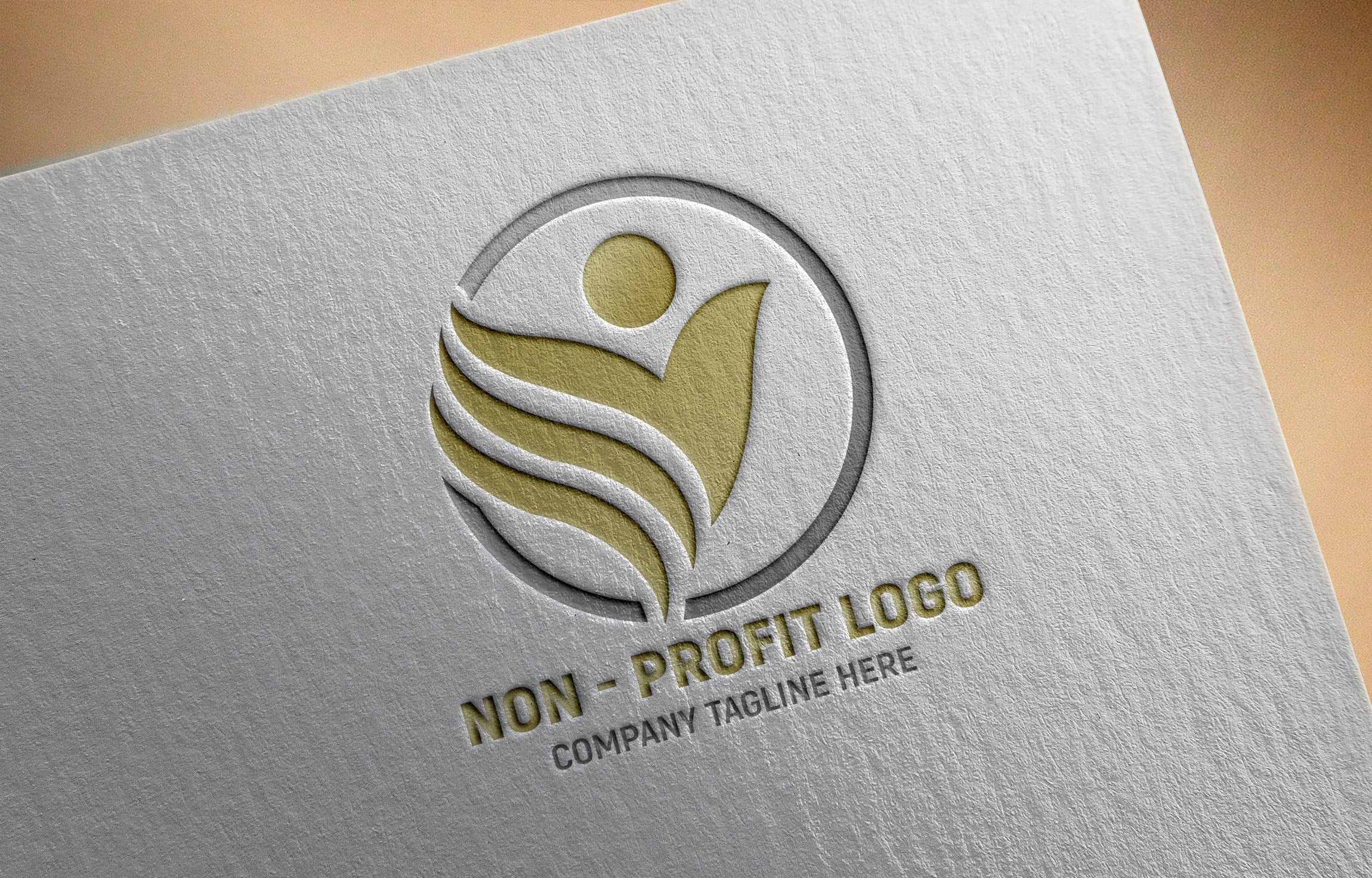 Non-Profit Company Logo Design on paper