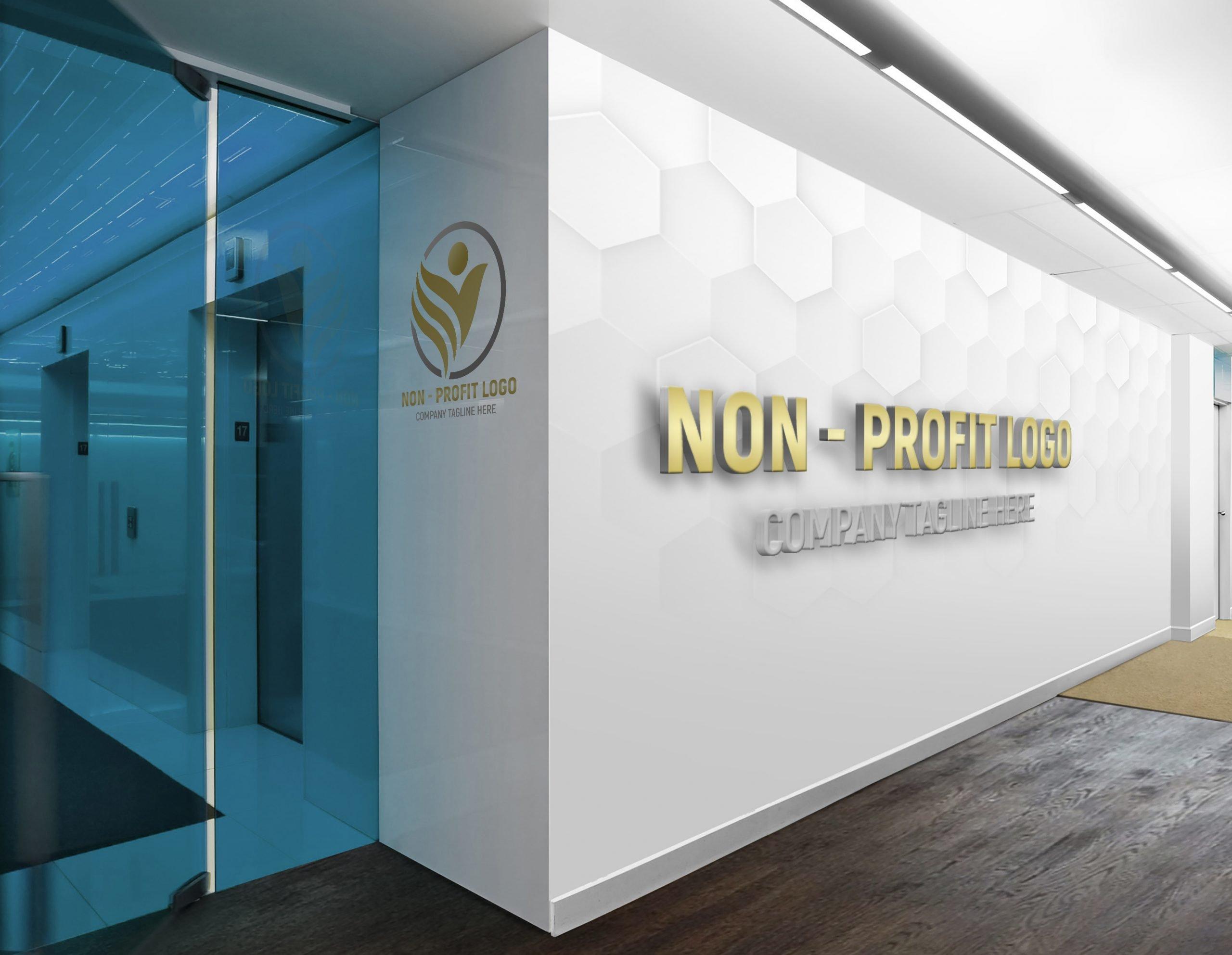 Non-Profit Company Logo Design on white wall