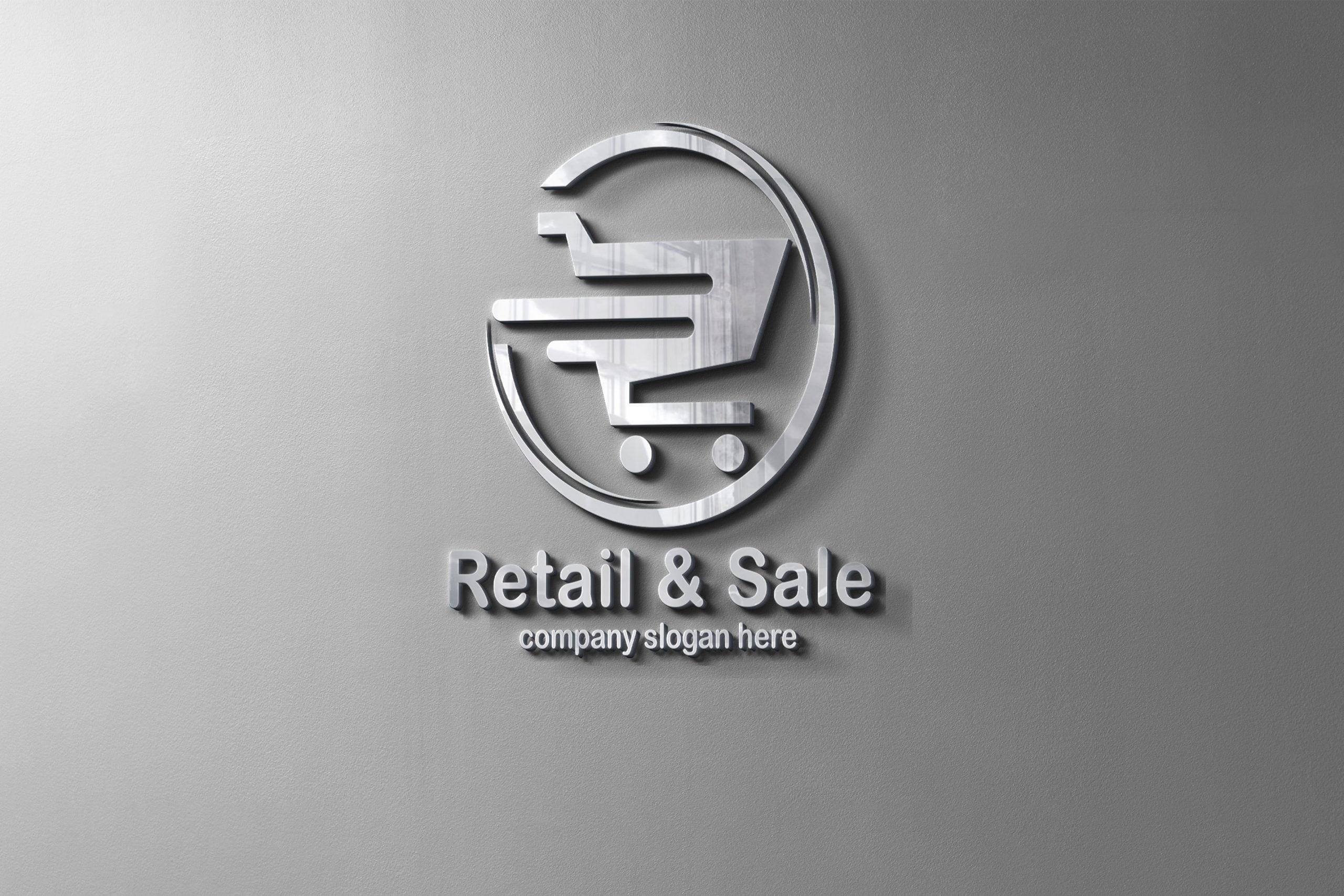 Online shopping logo design presentation