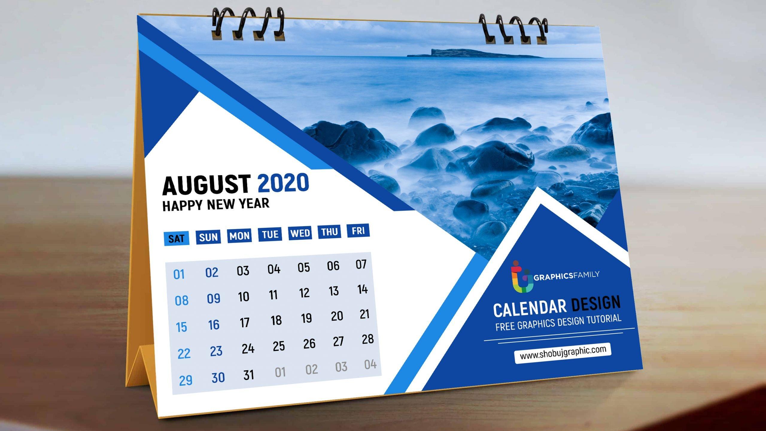 Professional Desk Calendar Design Free PSD