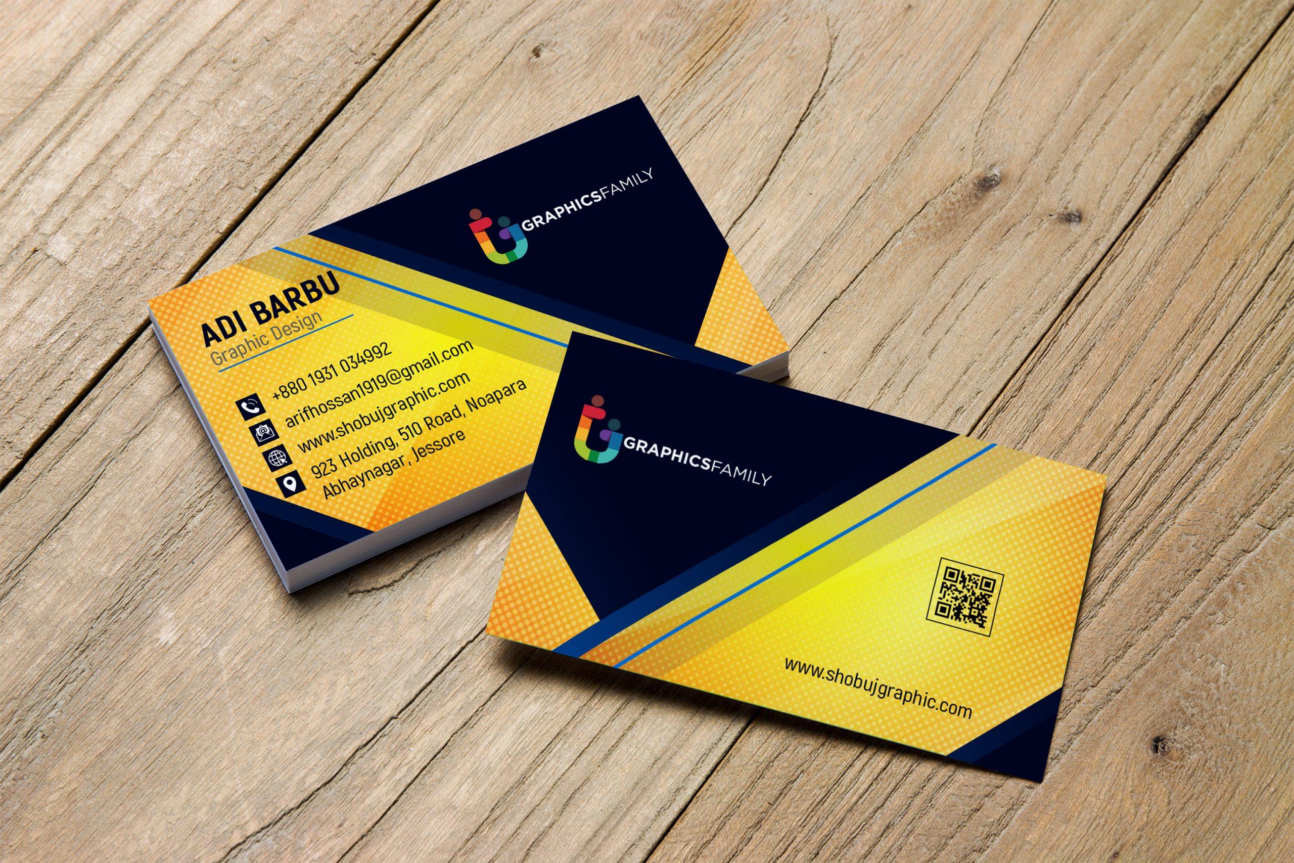 Professional & Modern Business Card Design Free psd