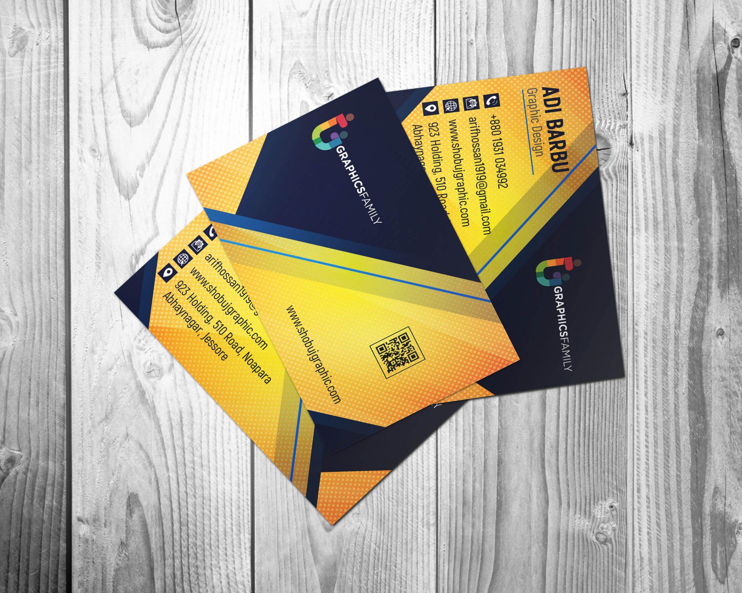 Professional & Modern Business Card Design Presentation