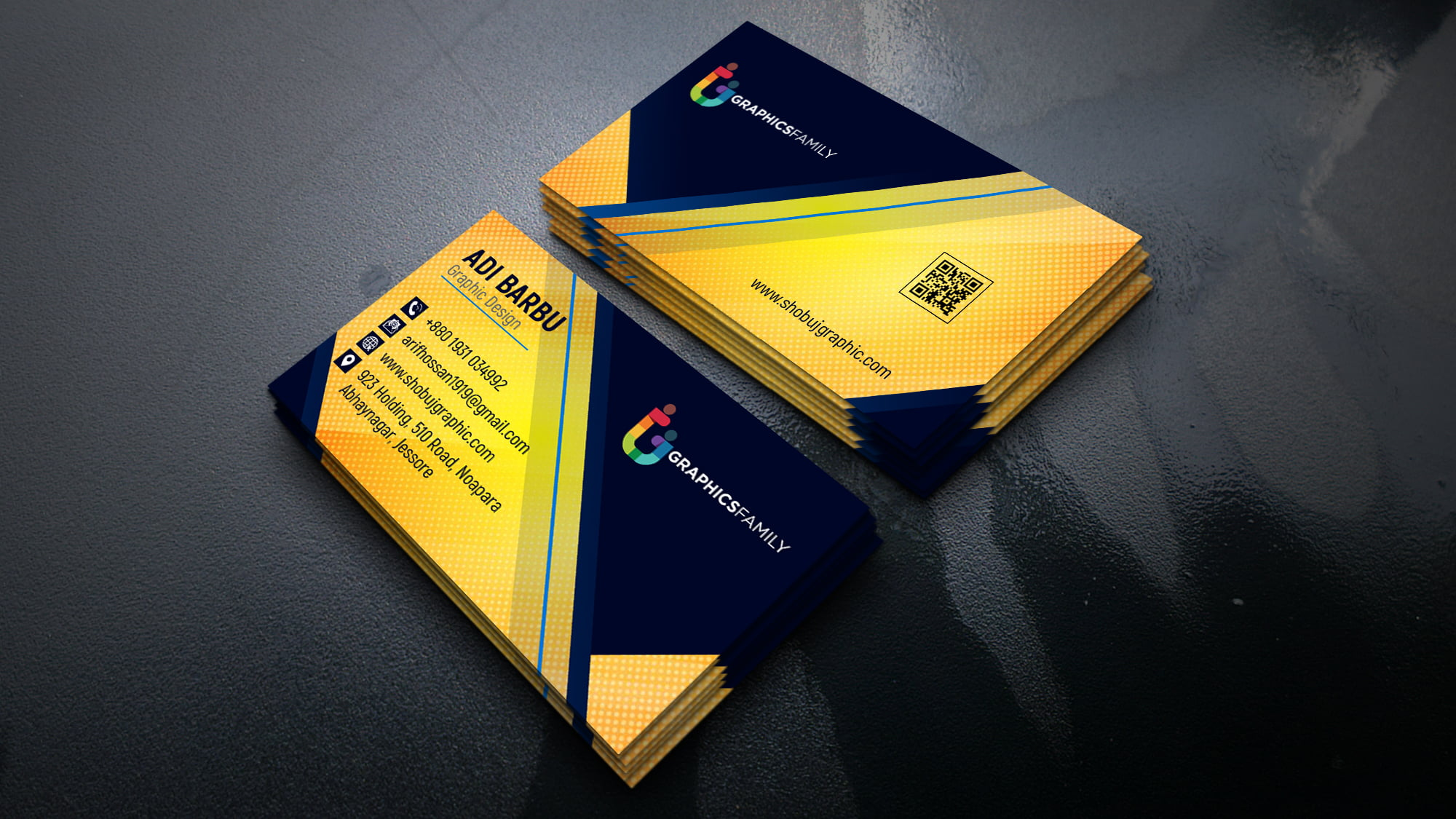 Professional & Modern Business Card Design by using Photoshop