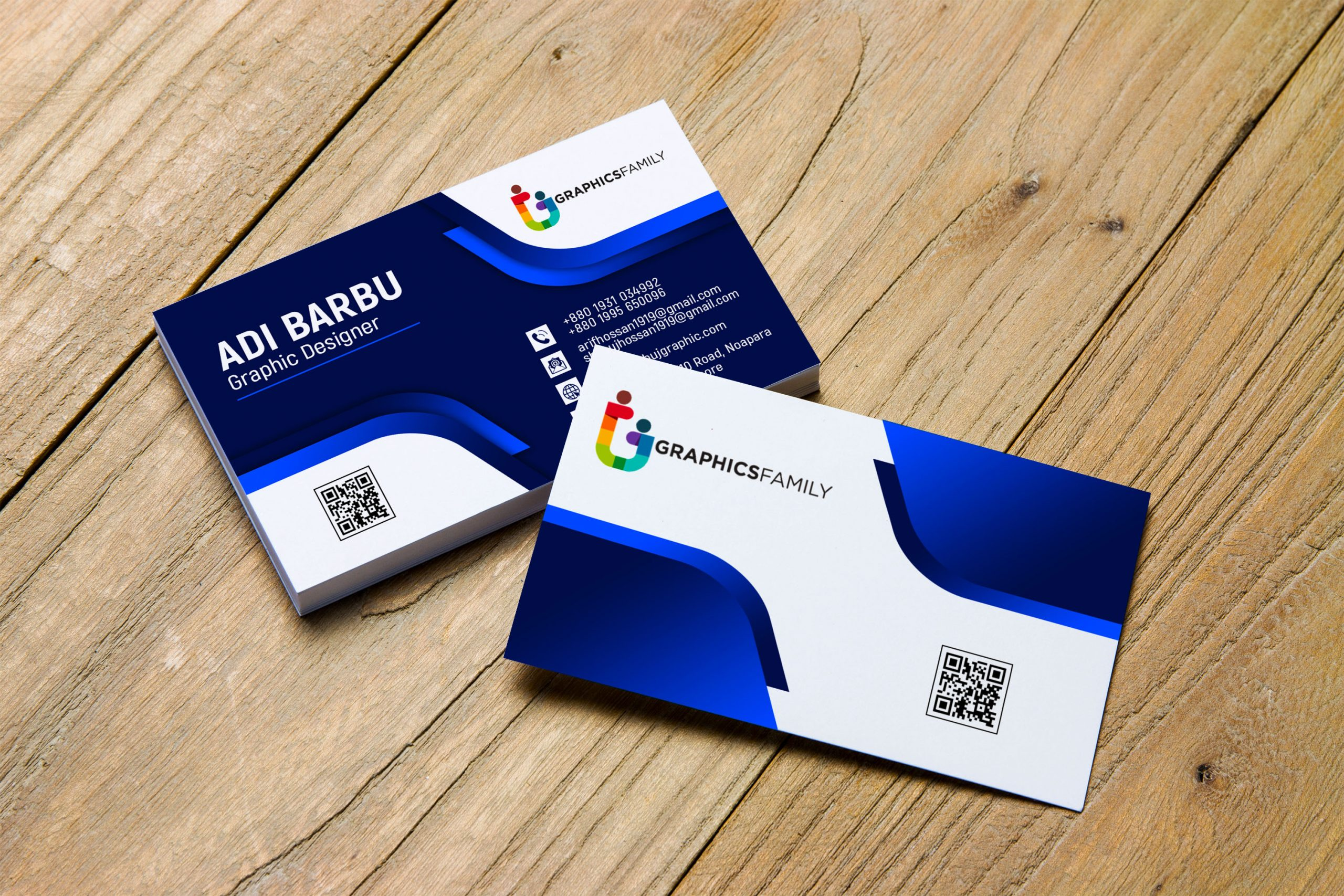 professional business card design free psd download