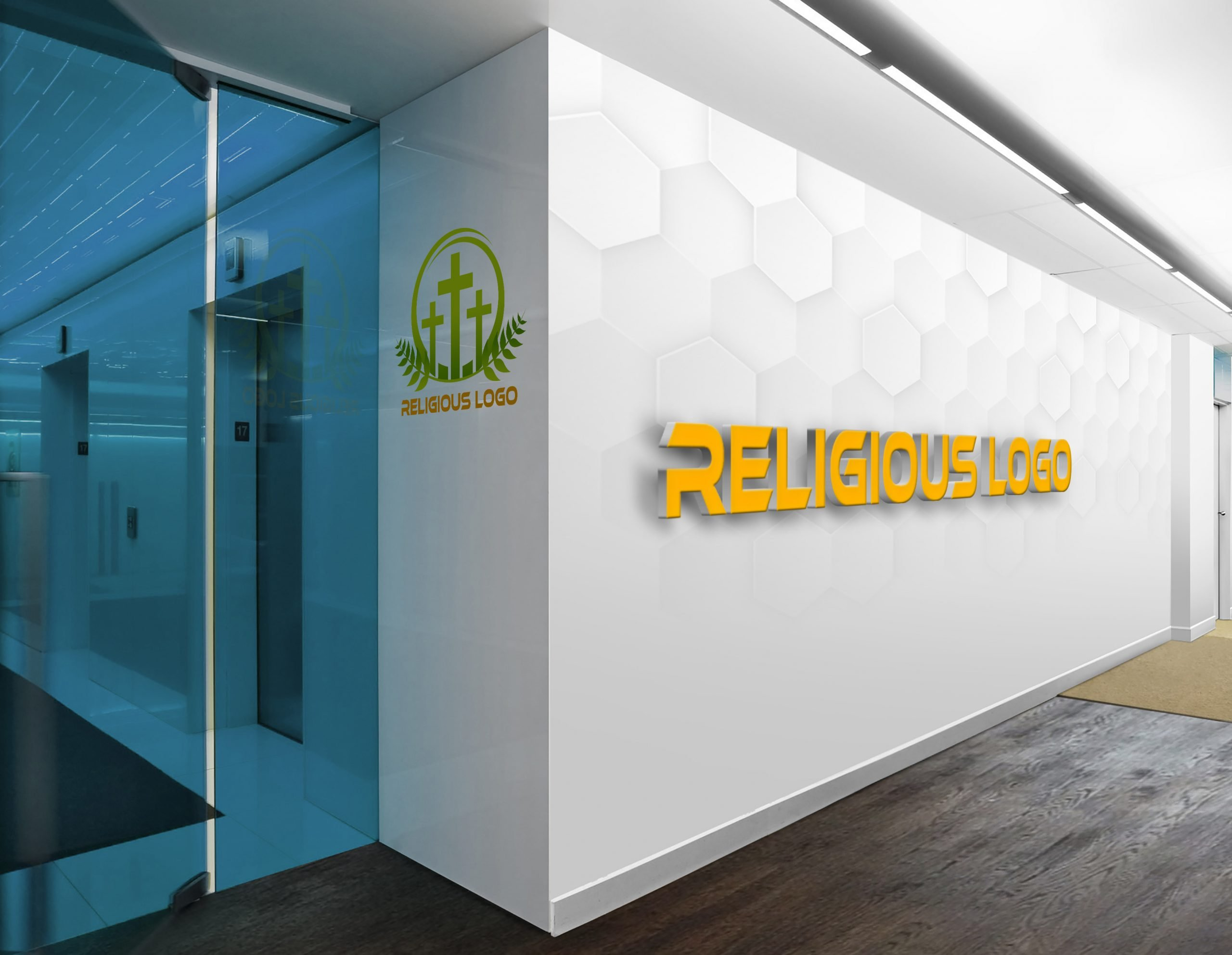 Religious and Spirituality Logo Template Office wall