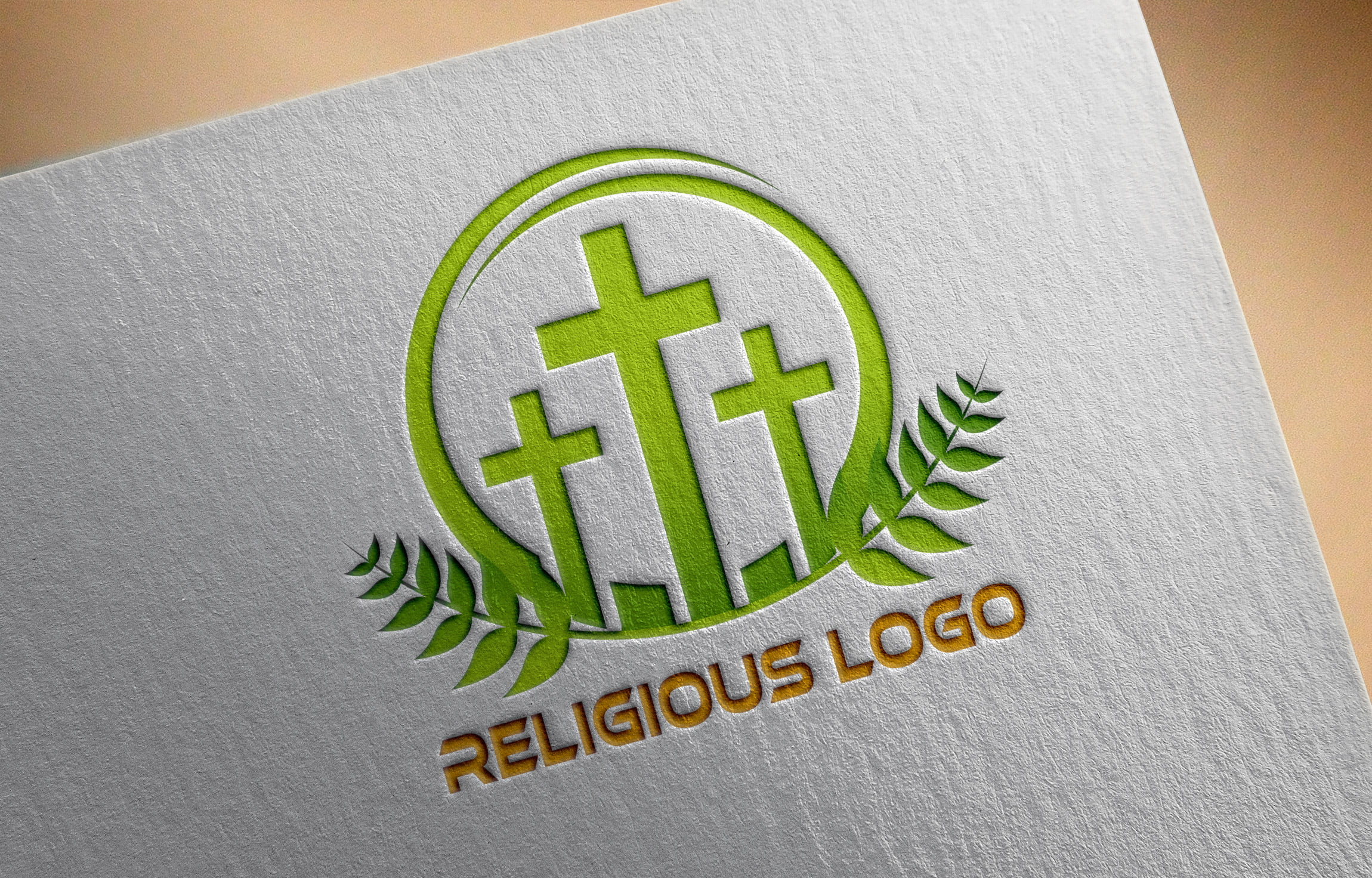 Religious and Spirituality Logo Template on Paper