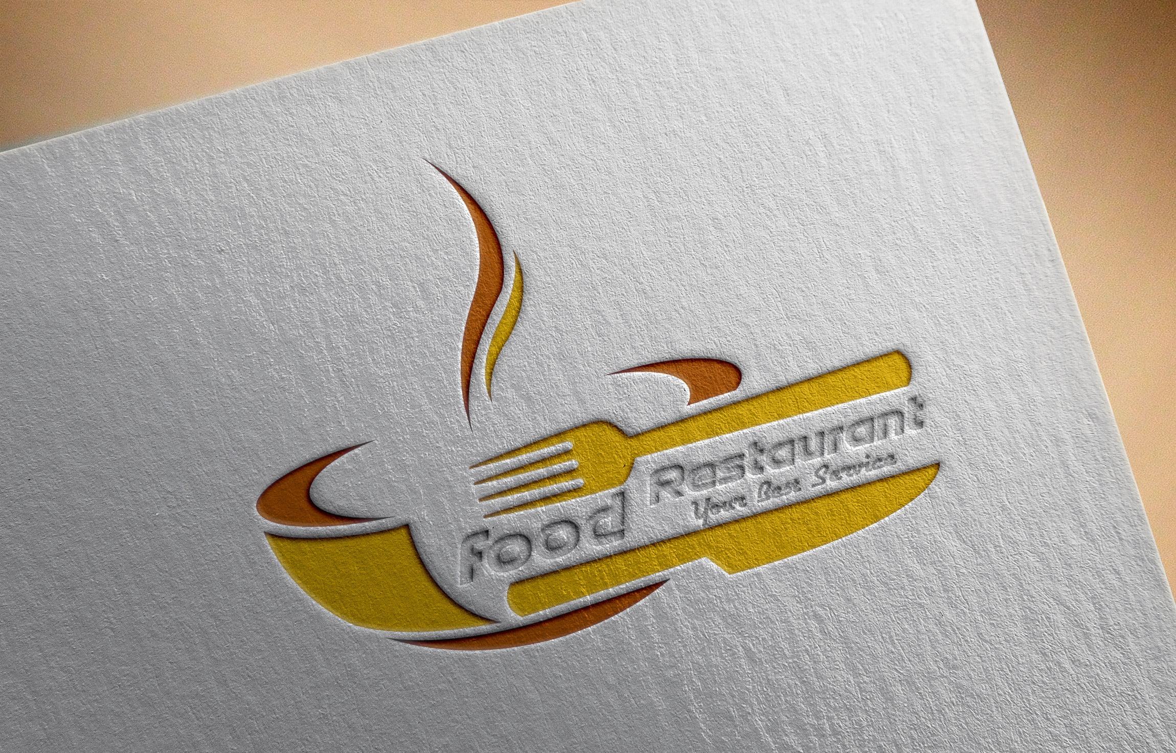 Restaurant Logo on Paper Mockup