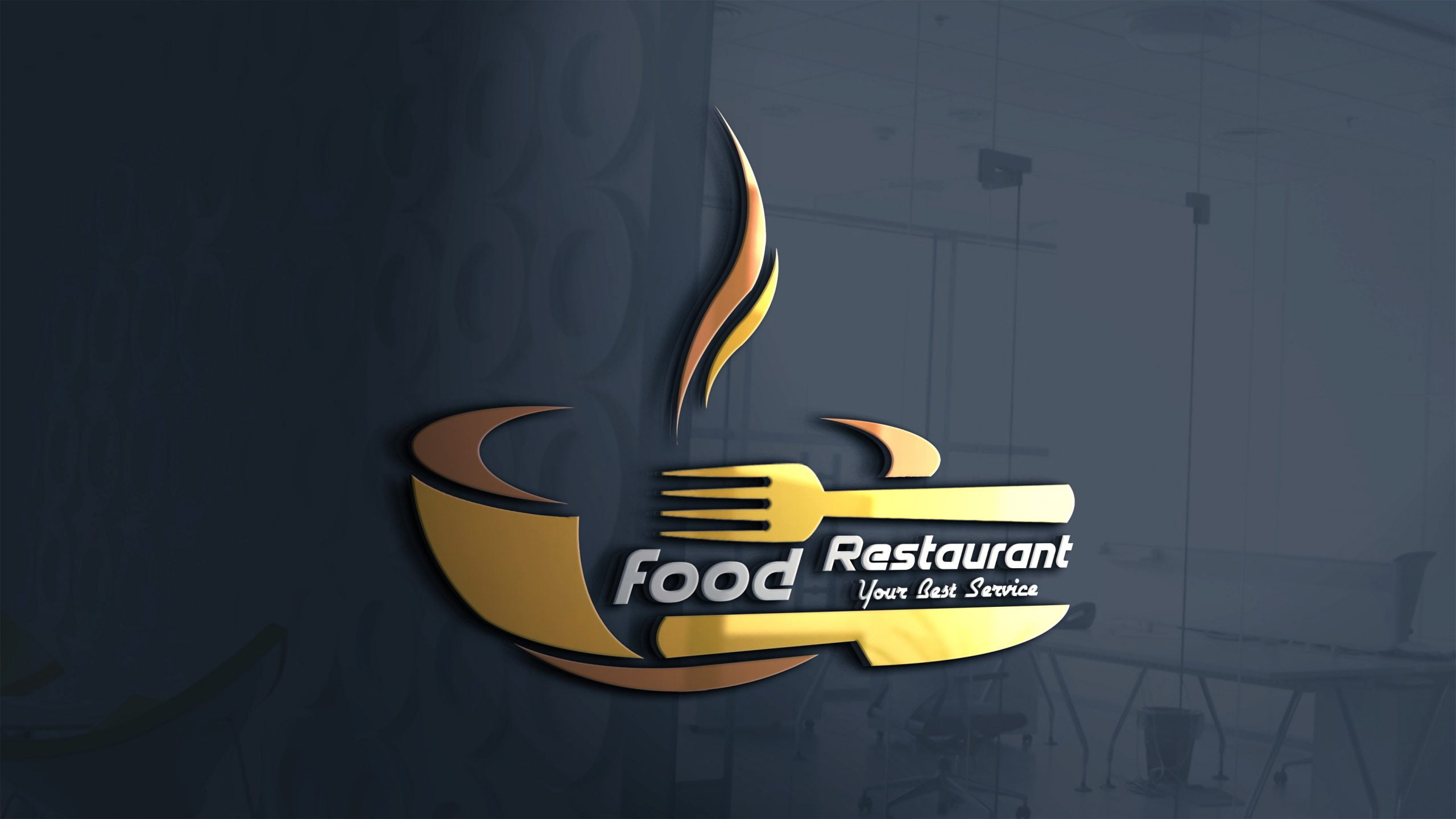 Restaurant logo design free template