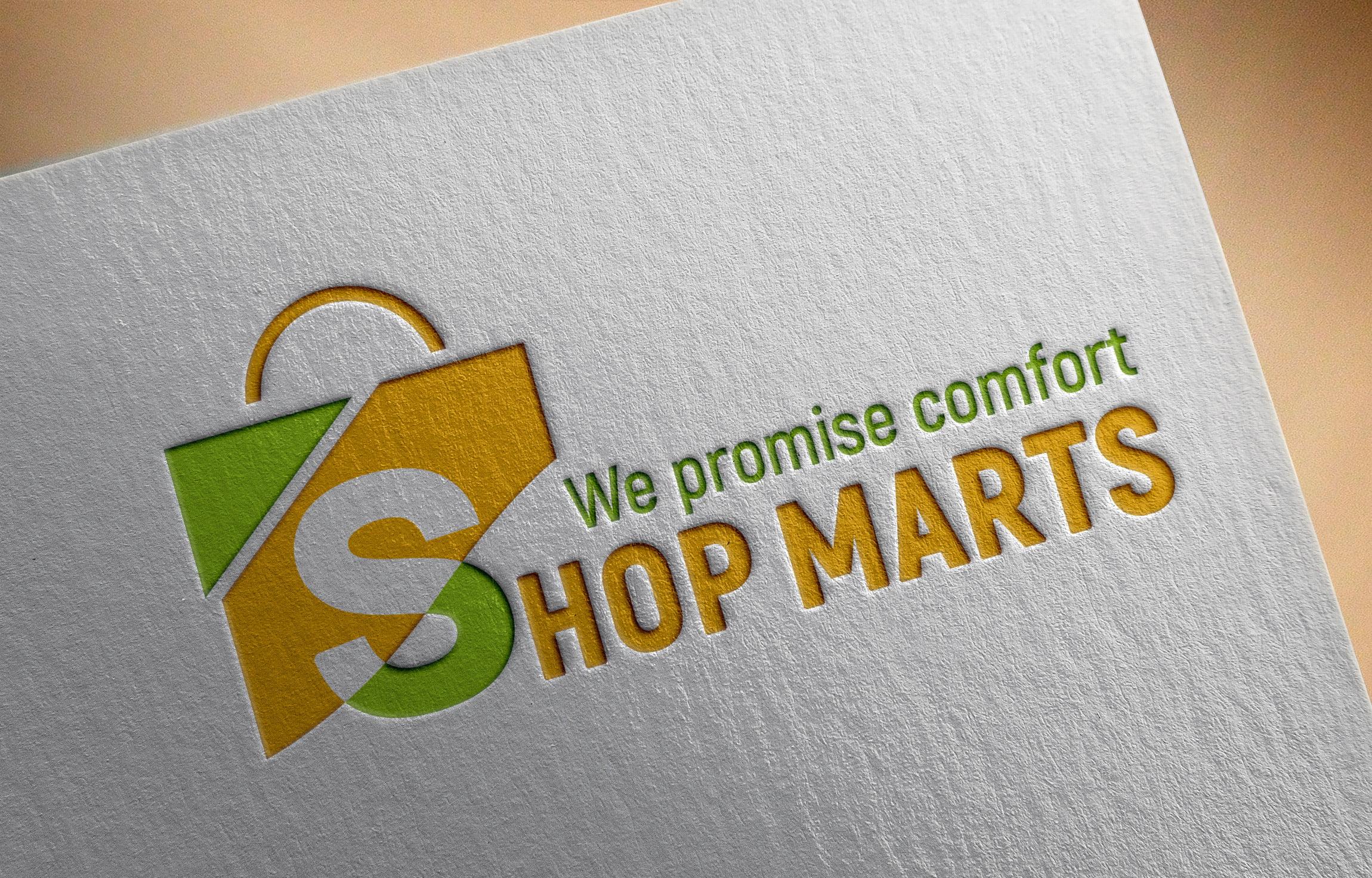 Shopping Logo on paper mockup